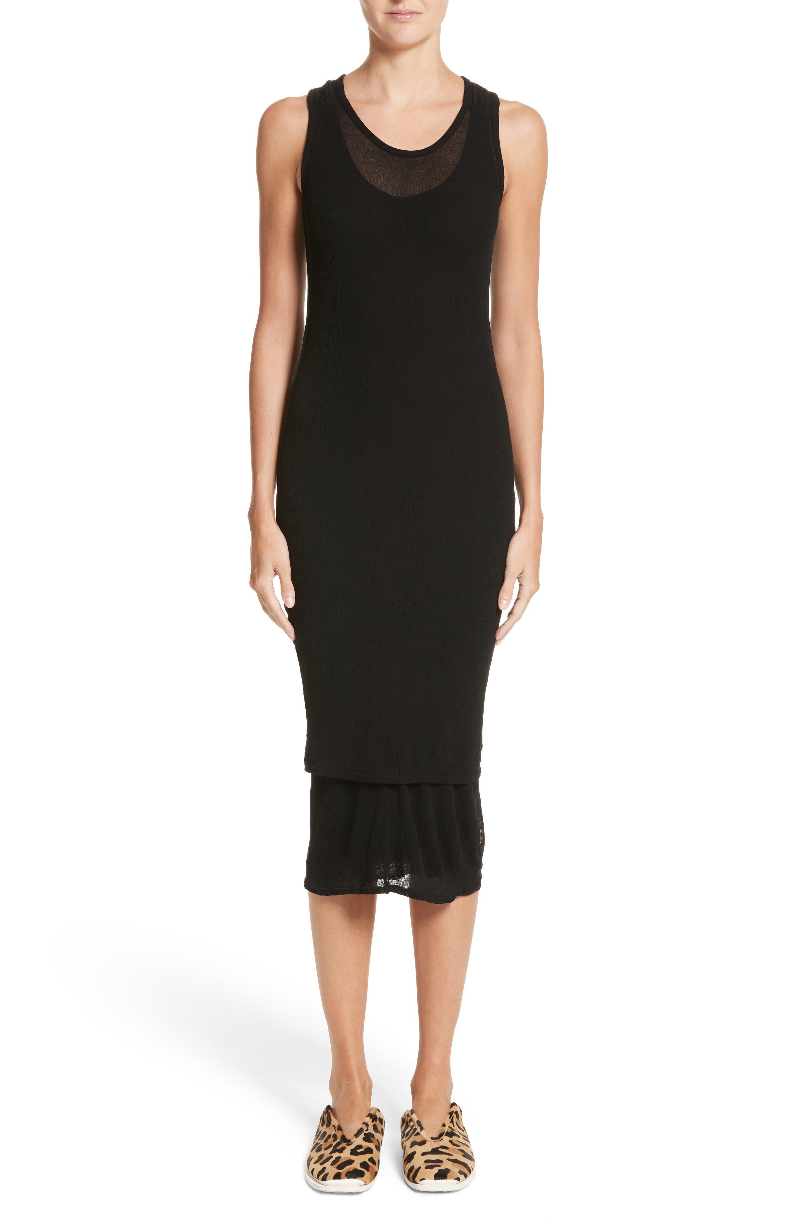 PSWL Jersey Gauze Dress,                             Main thumbnail 1, color,