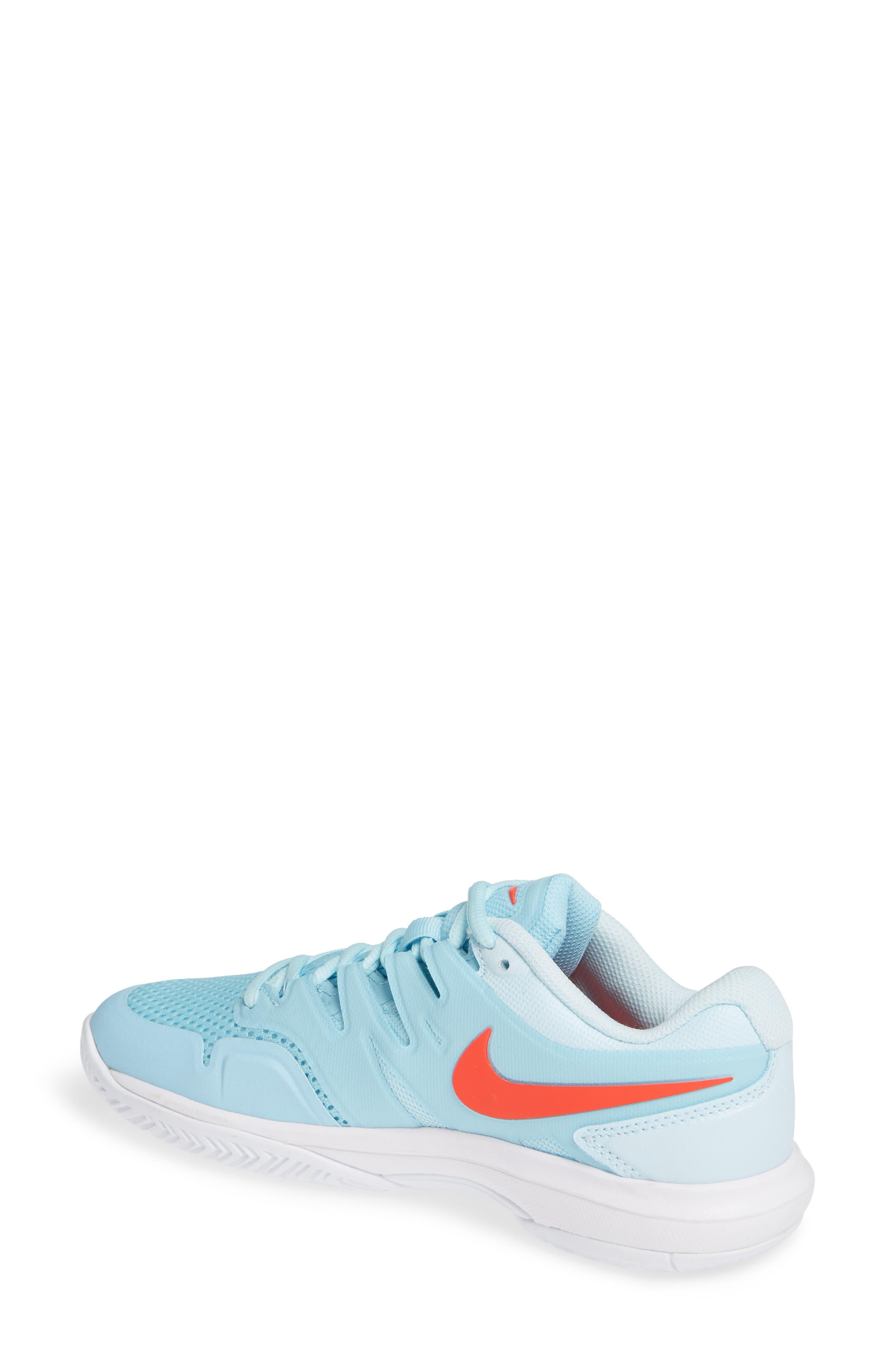 Air Zoom Prestige Tennis Shoe,                             Alternate thumbnail 2, color,                             BLUE/ BRIGHT CRIMSON-TOPAZ