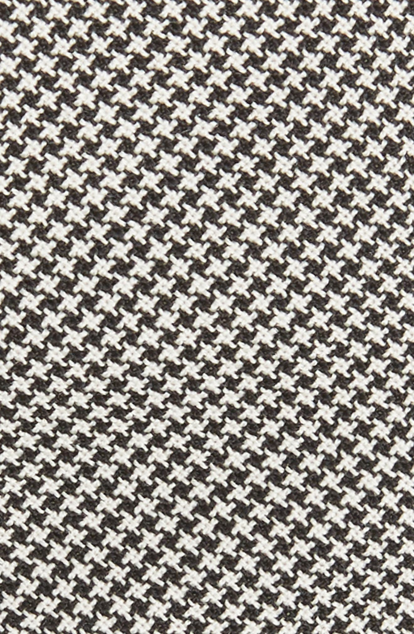 Houndstooth Wool Skinny Tie,                             Alternate thumbnail 2, color,                             BLACK