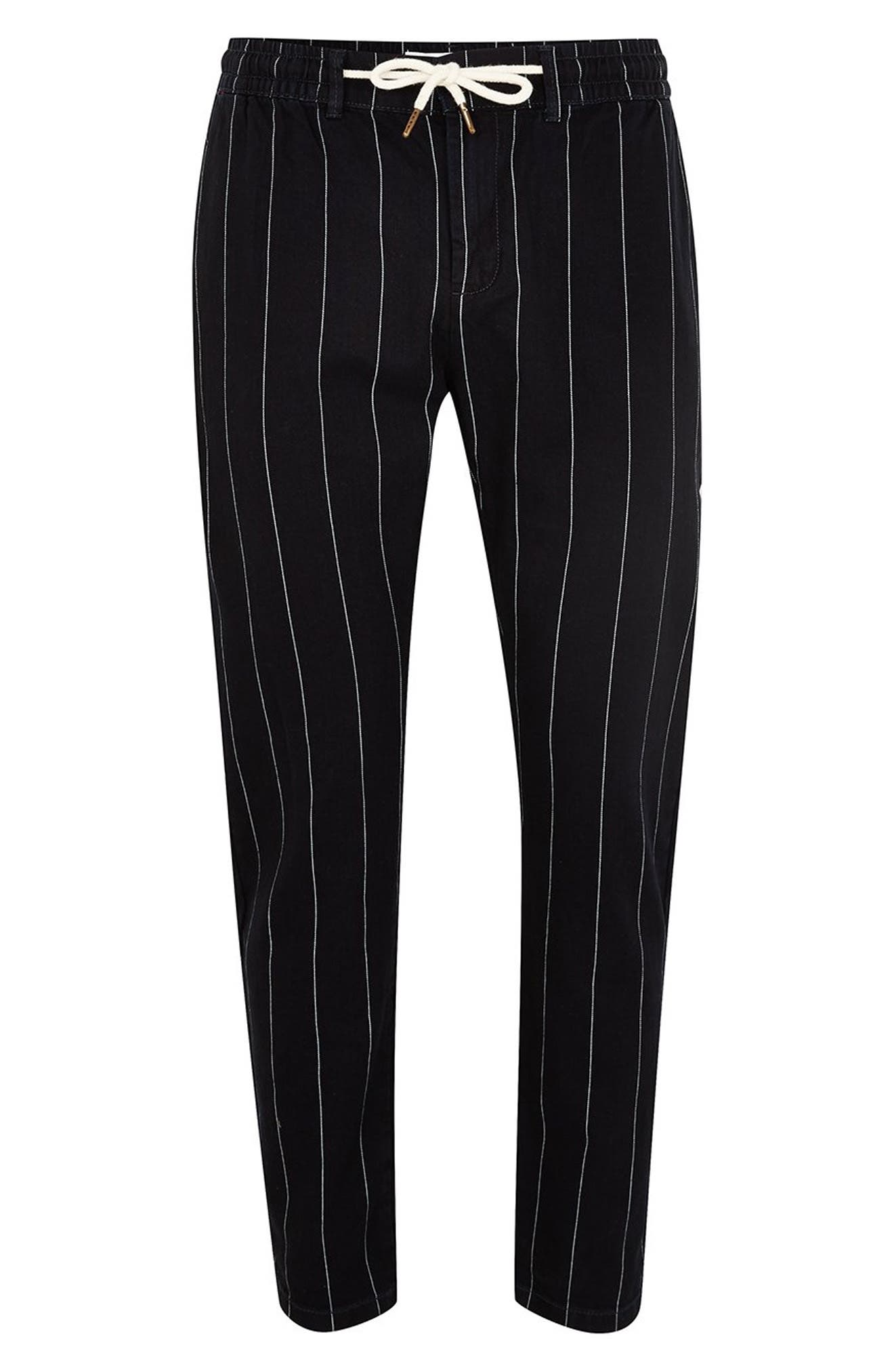 Pinstripe Skinny Trousers,                             Alternate thumbnail 4, color,                             411