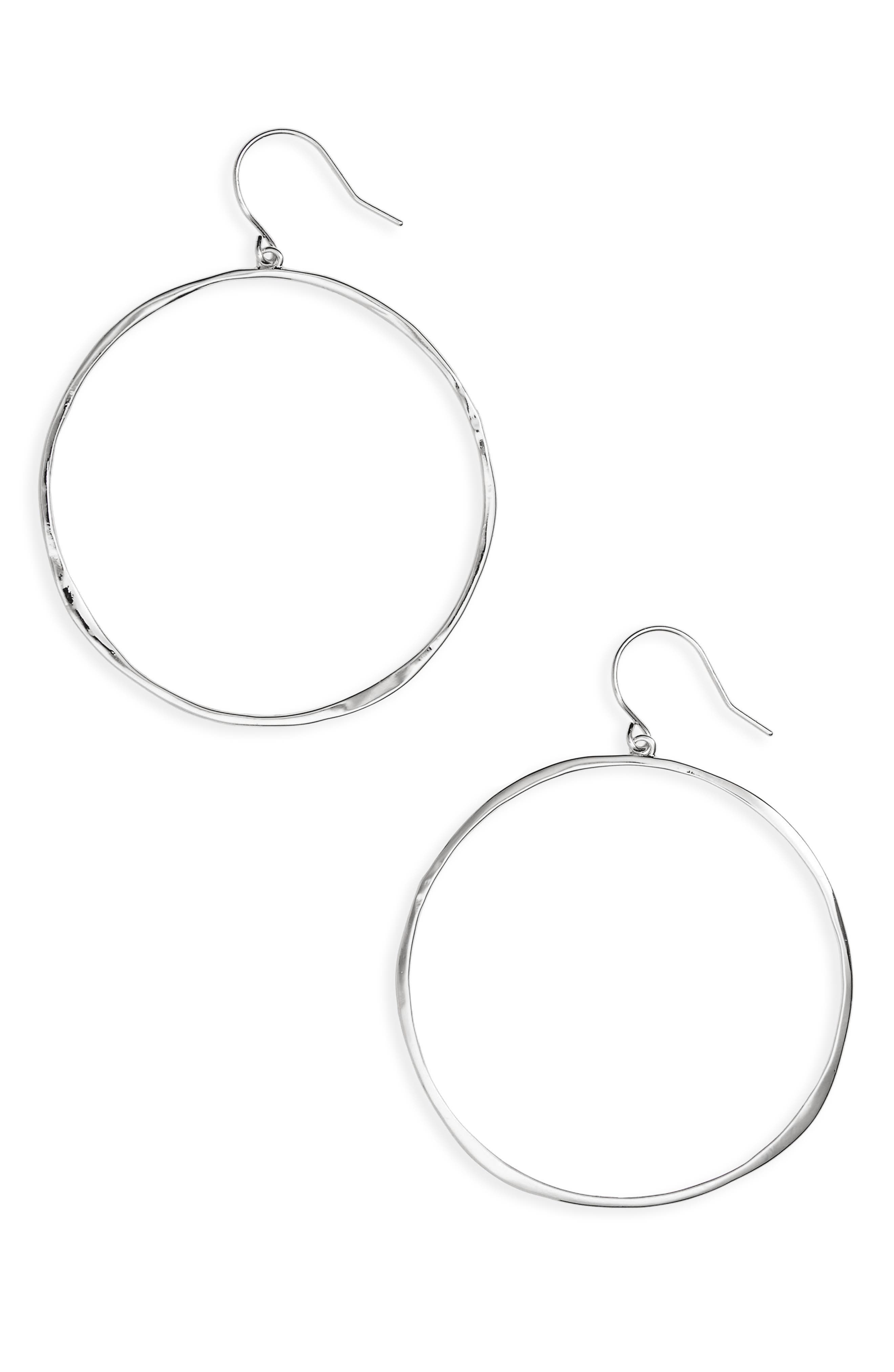 G Ring Hoops,                             Main thumbnail 1, color,                             SILVER