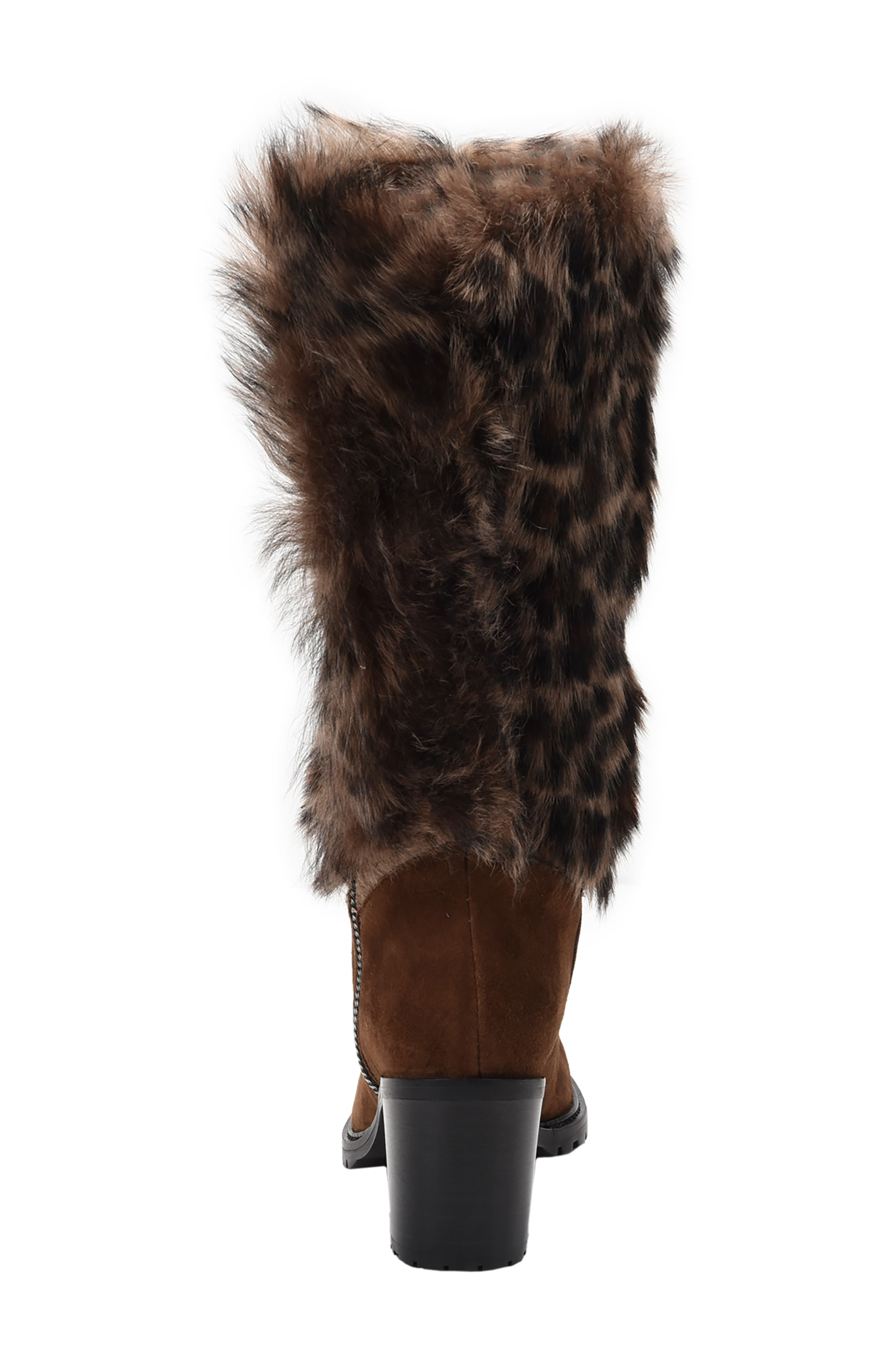 Weatherproof Genuine Shearling Boot,                             Alternate thumbnail 6, color,                             LEOPARD LEATHER