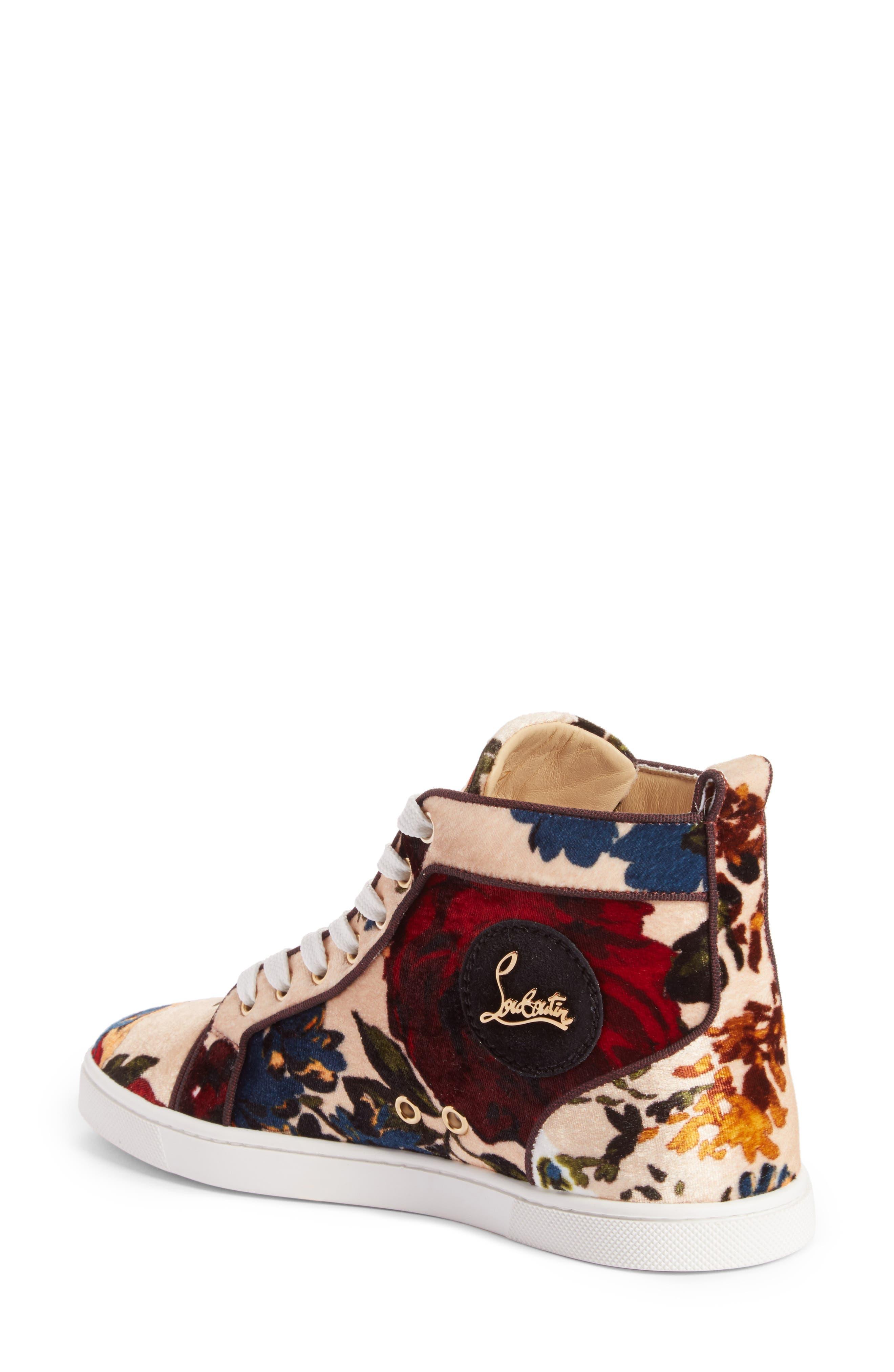 CHRISTIAN LOUBOUTIN,                             Bip Bip Floral Sneaker,                             Alternate thumbnail 2, color,                             250