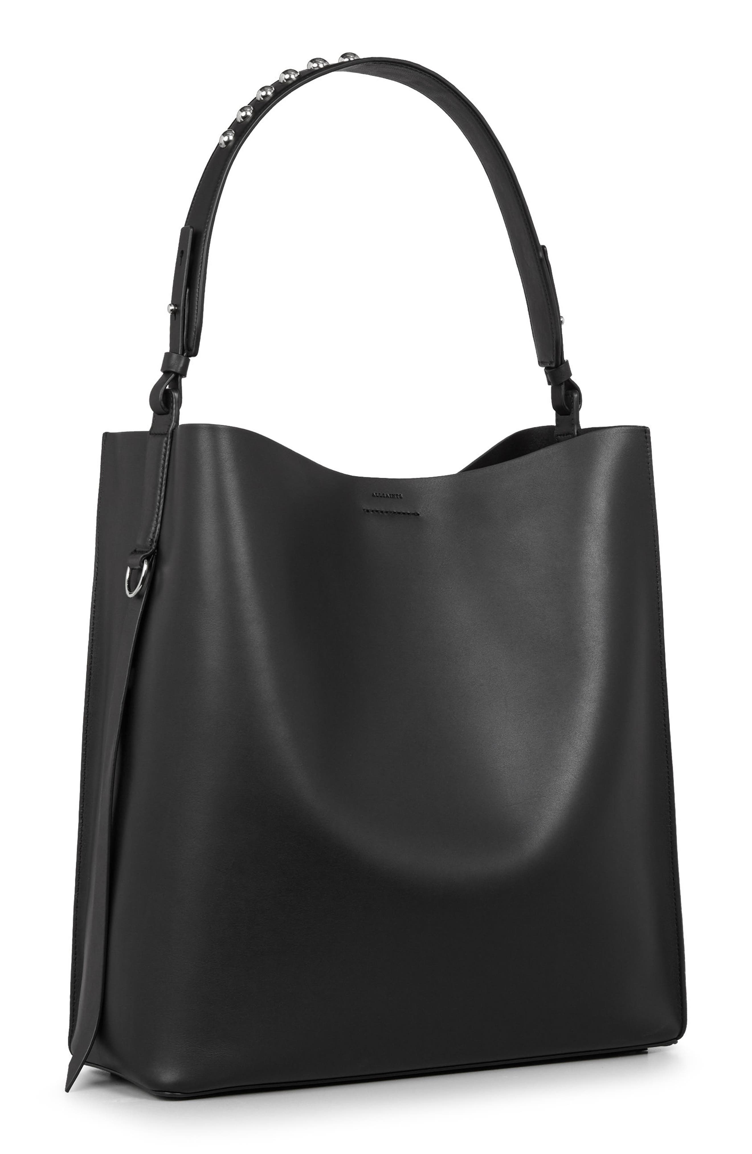 Suzi North/South Leather Tote,                             Alternate thumbnail 3, color,