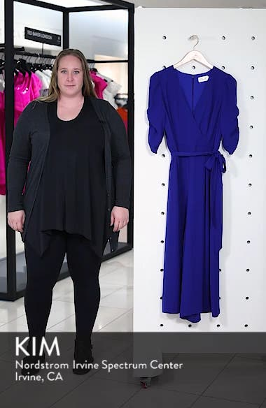 Ruched Sleeve Wide Leg Jumpsuit, sales video thumbnail