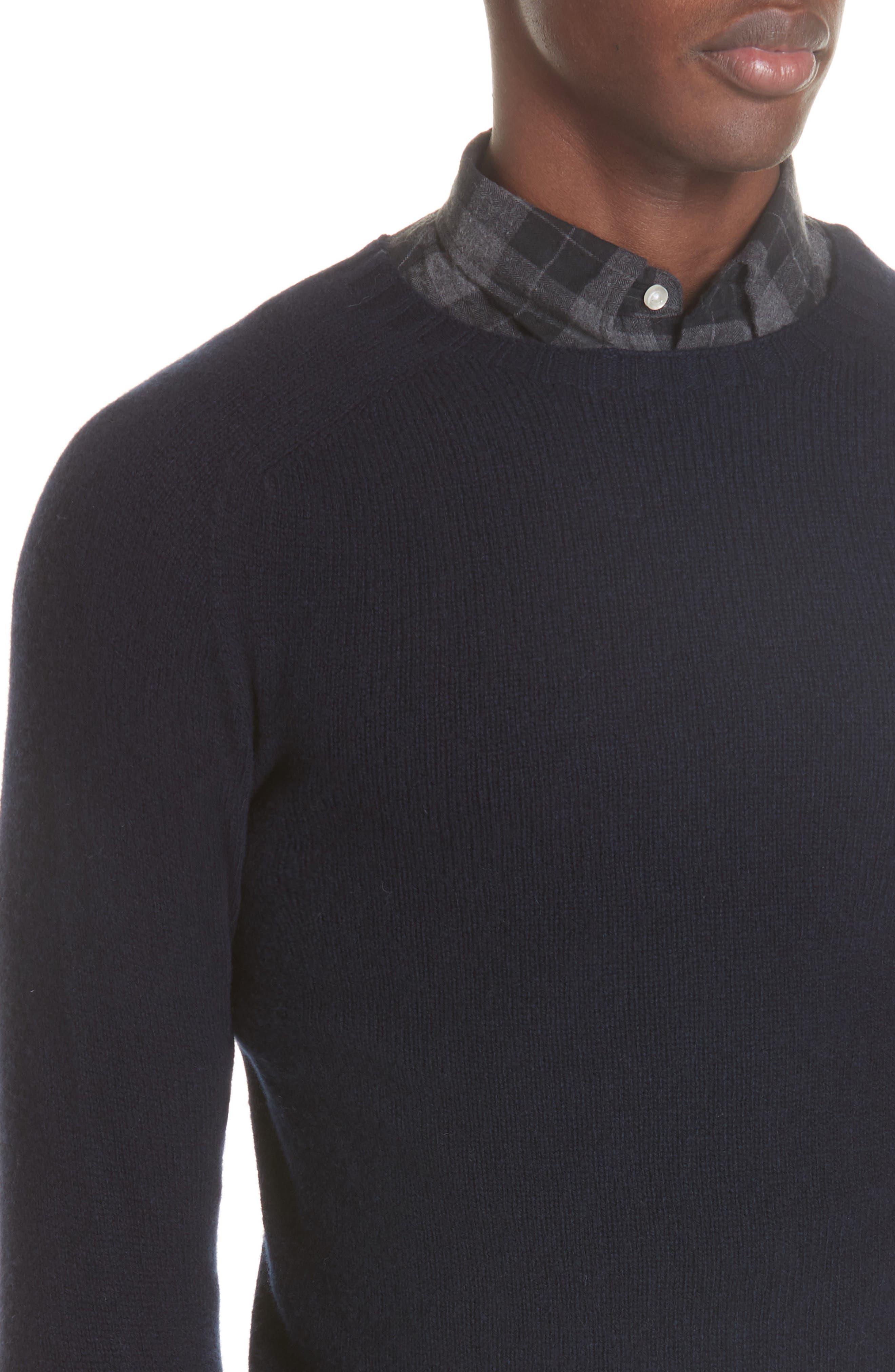 Officine Générale Wool Crewneck Sweater,                             Alternate thumbnail 4, color,                             410