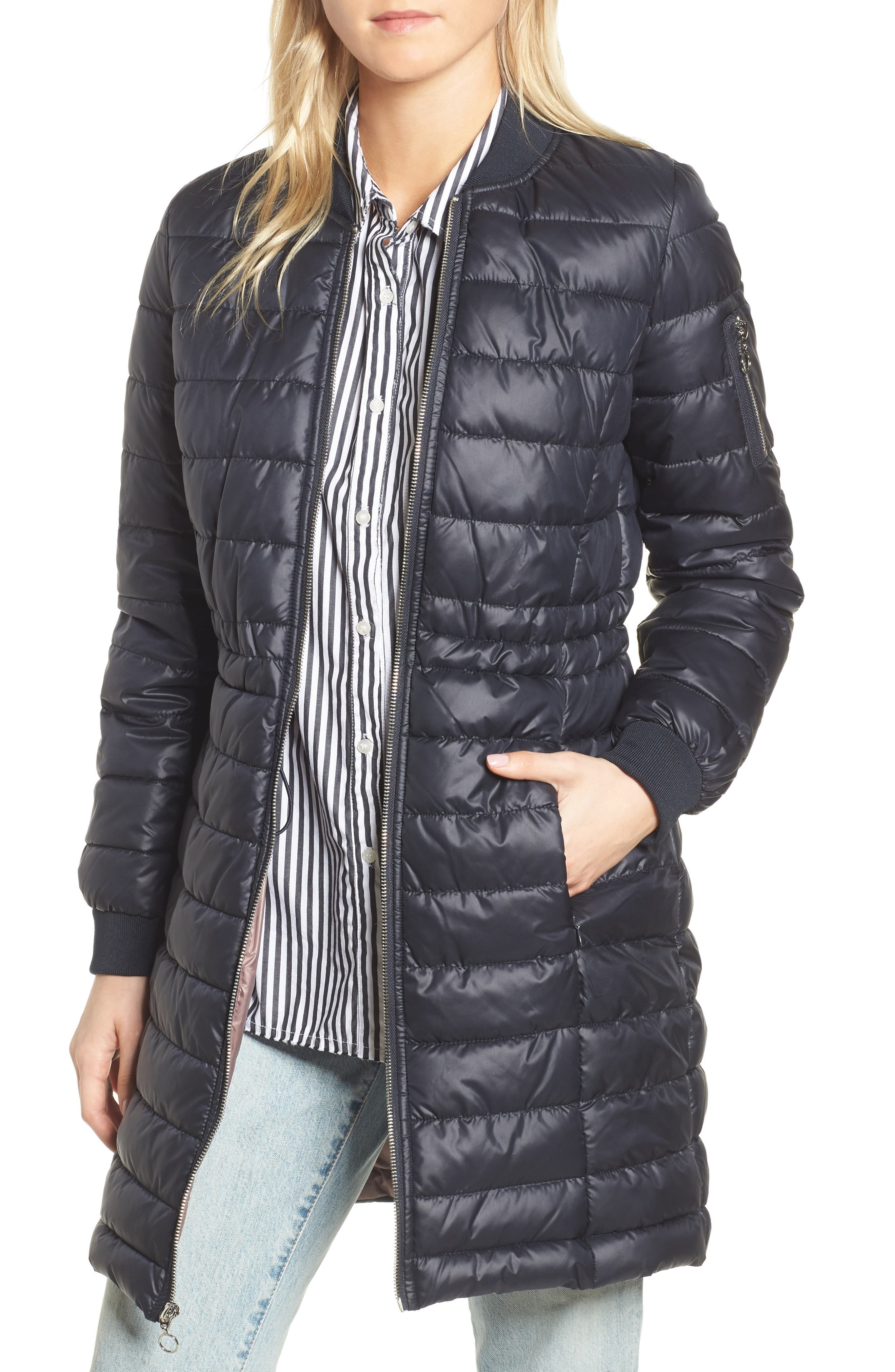 Lightweight Quilted Puffer Coat,                             Main thumbnail 3, color,