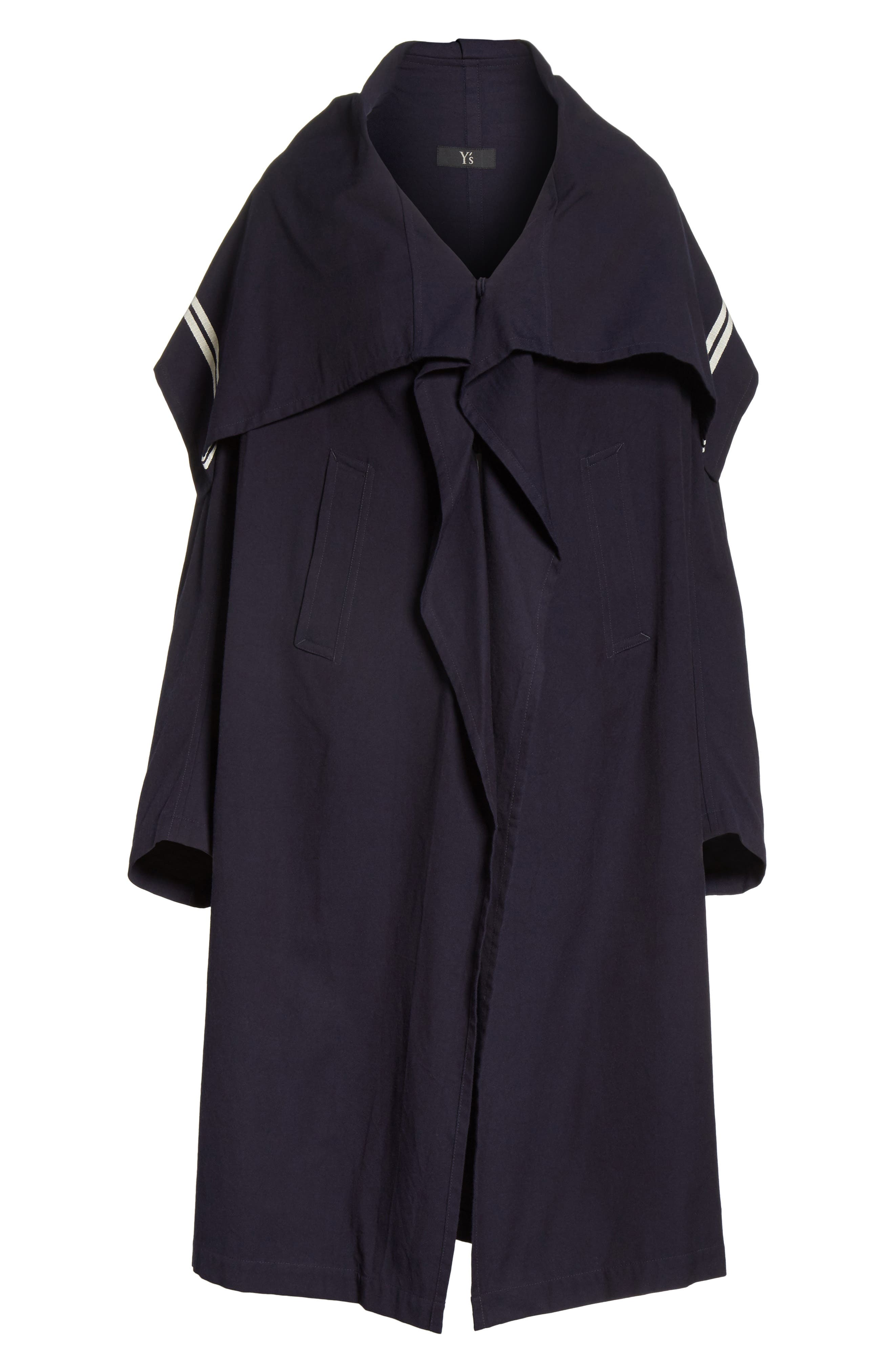 Drape Collar Coat,                             Alternate thumbnail 4, color,                             410
