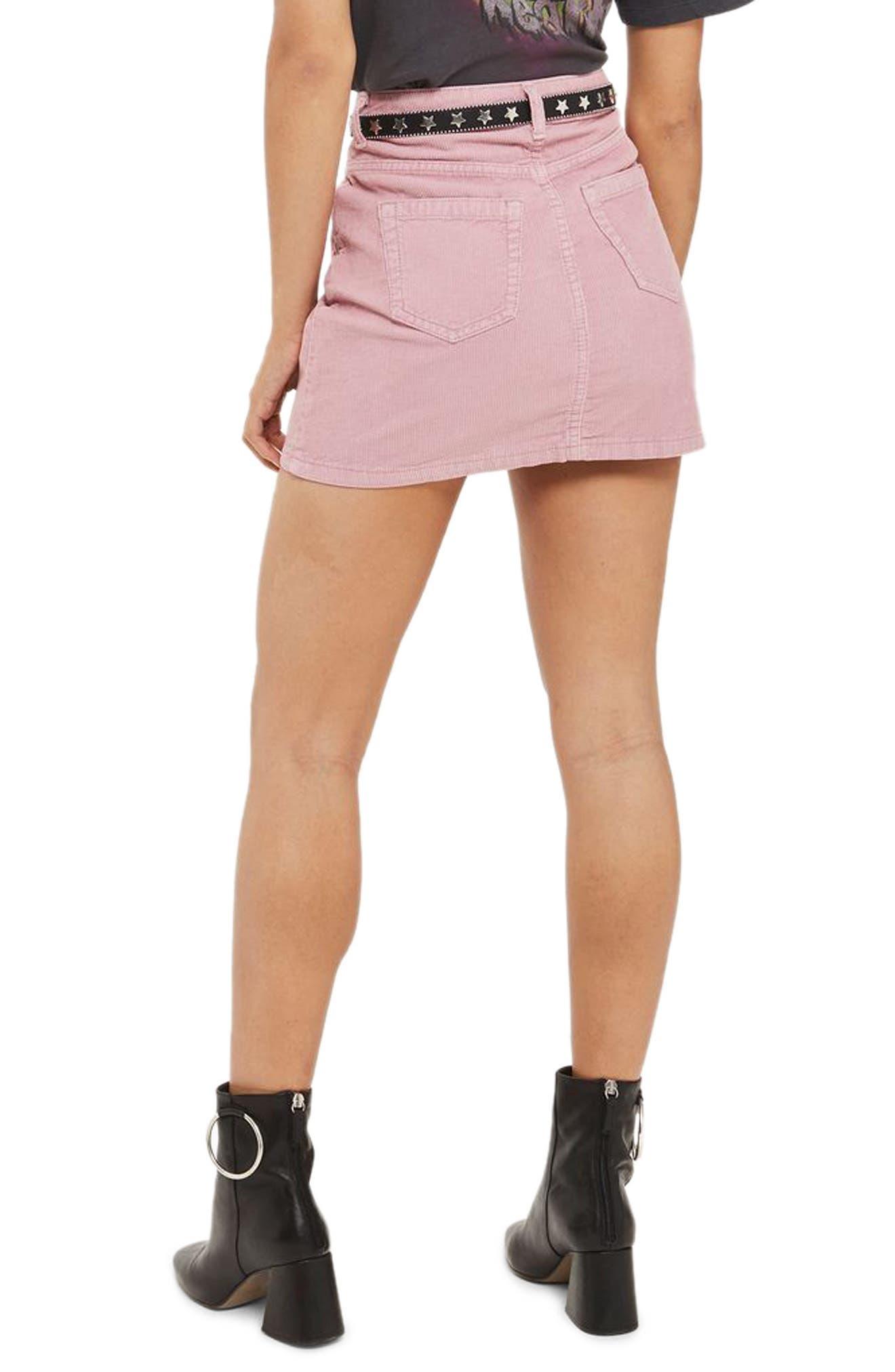 Corduroy Miniskirt,                             Alternate thumbnail 2, color,                             650