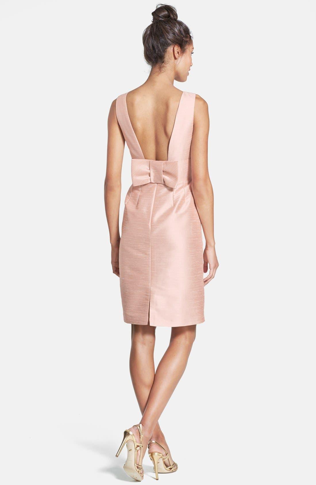 Boatneck Sheath Dress,                             Alternate thumbnail 9, color,                             PEARL PINK