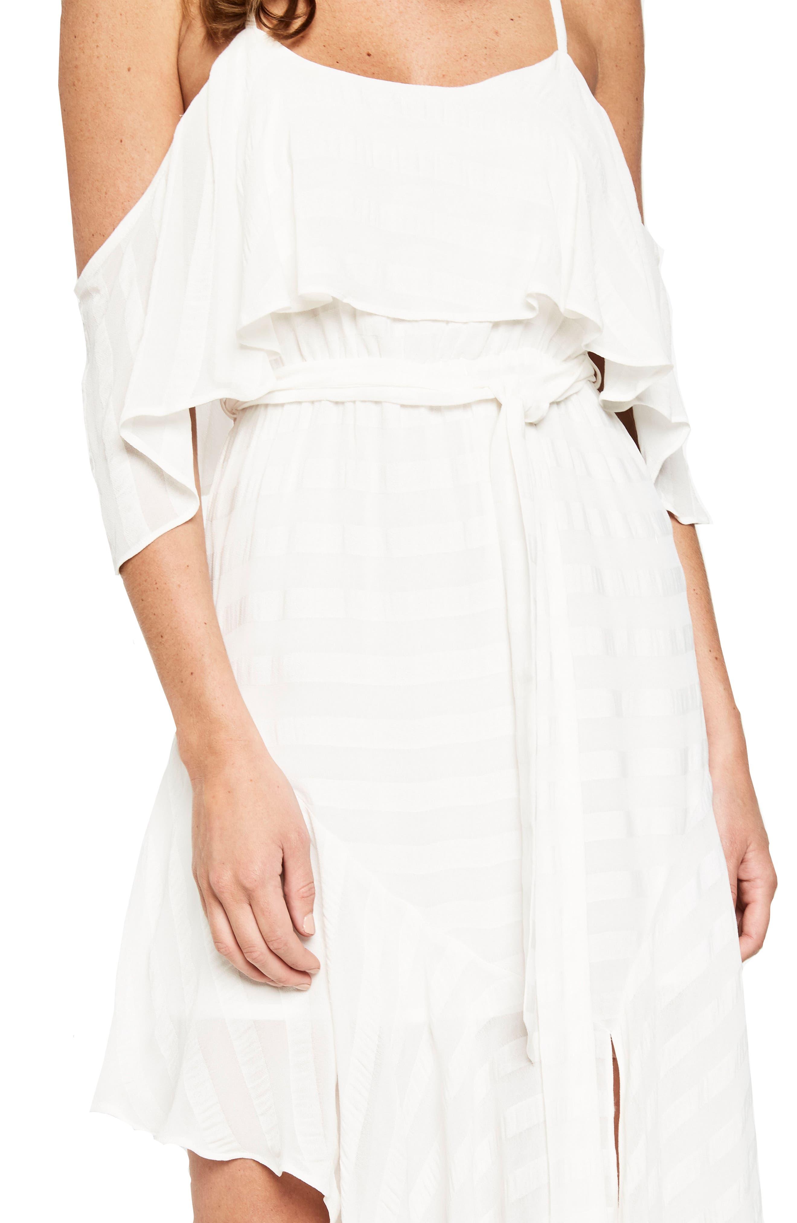 Elle Frill Cold Shoulder Dress,                             Alternate thumbnail 4, color,