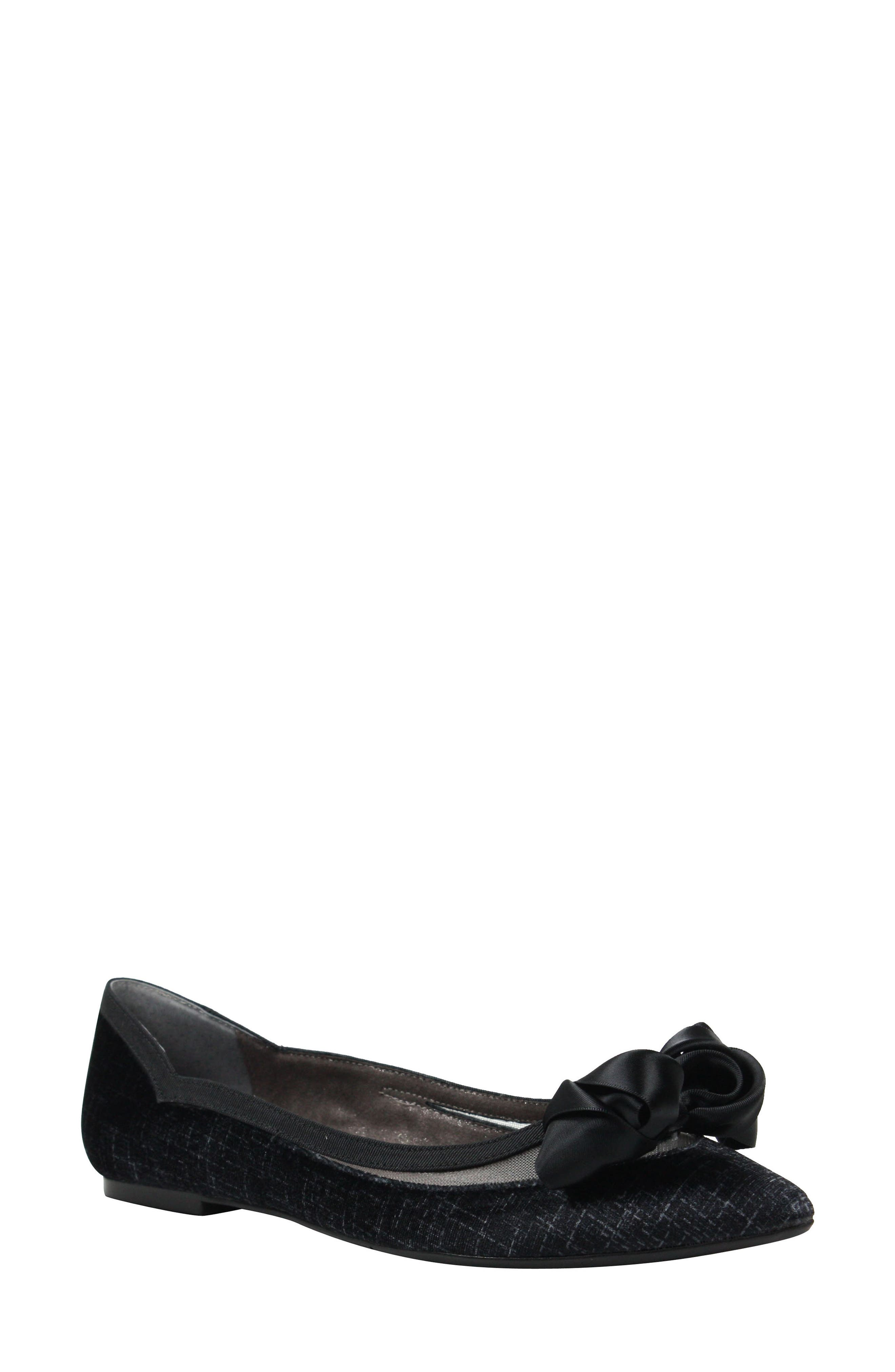 Allitson Bow Flat,                         Main,                         color, TAUPE/ BLACK