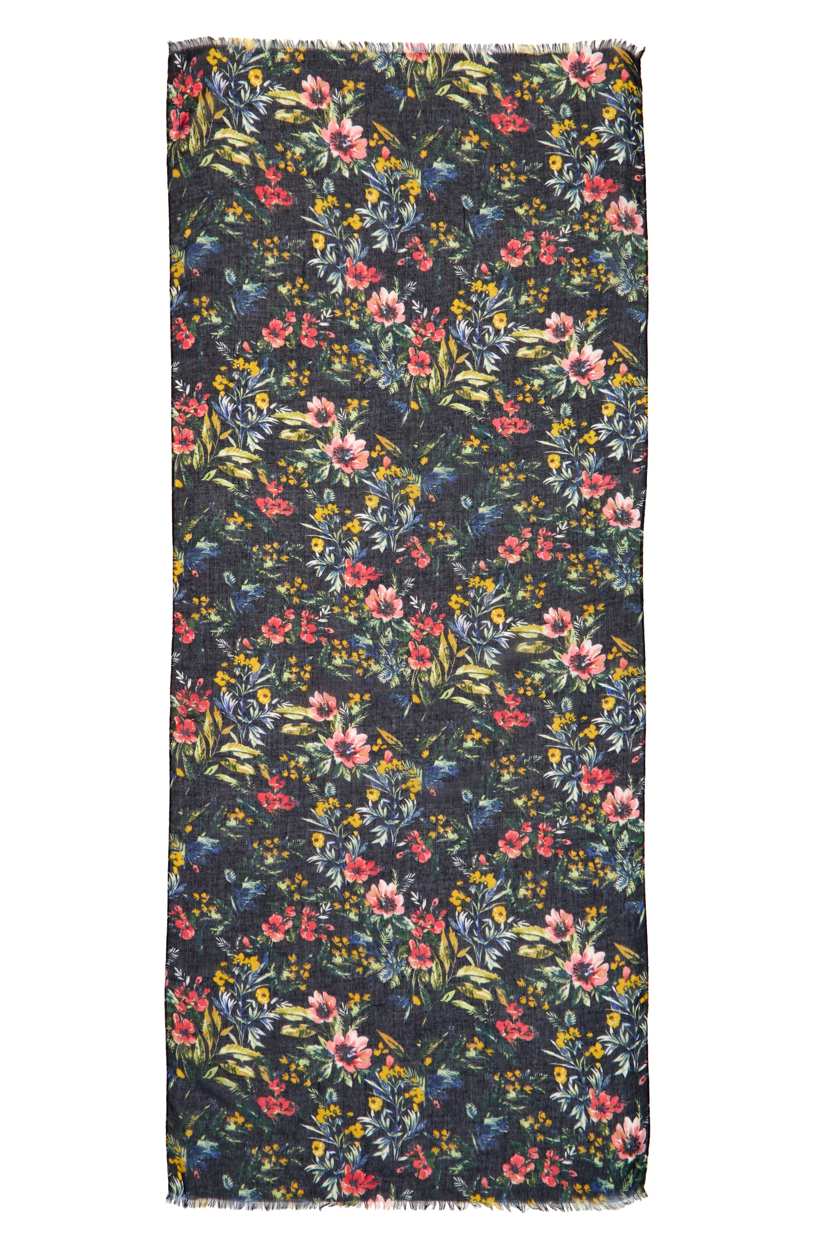 Wild Floral Scarf,                             Alternate thumbnail 2, color,
