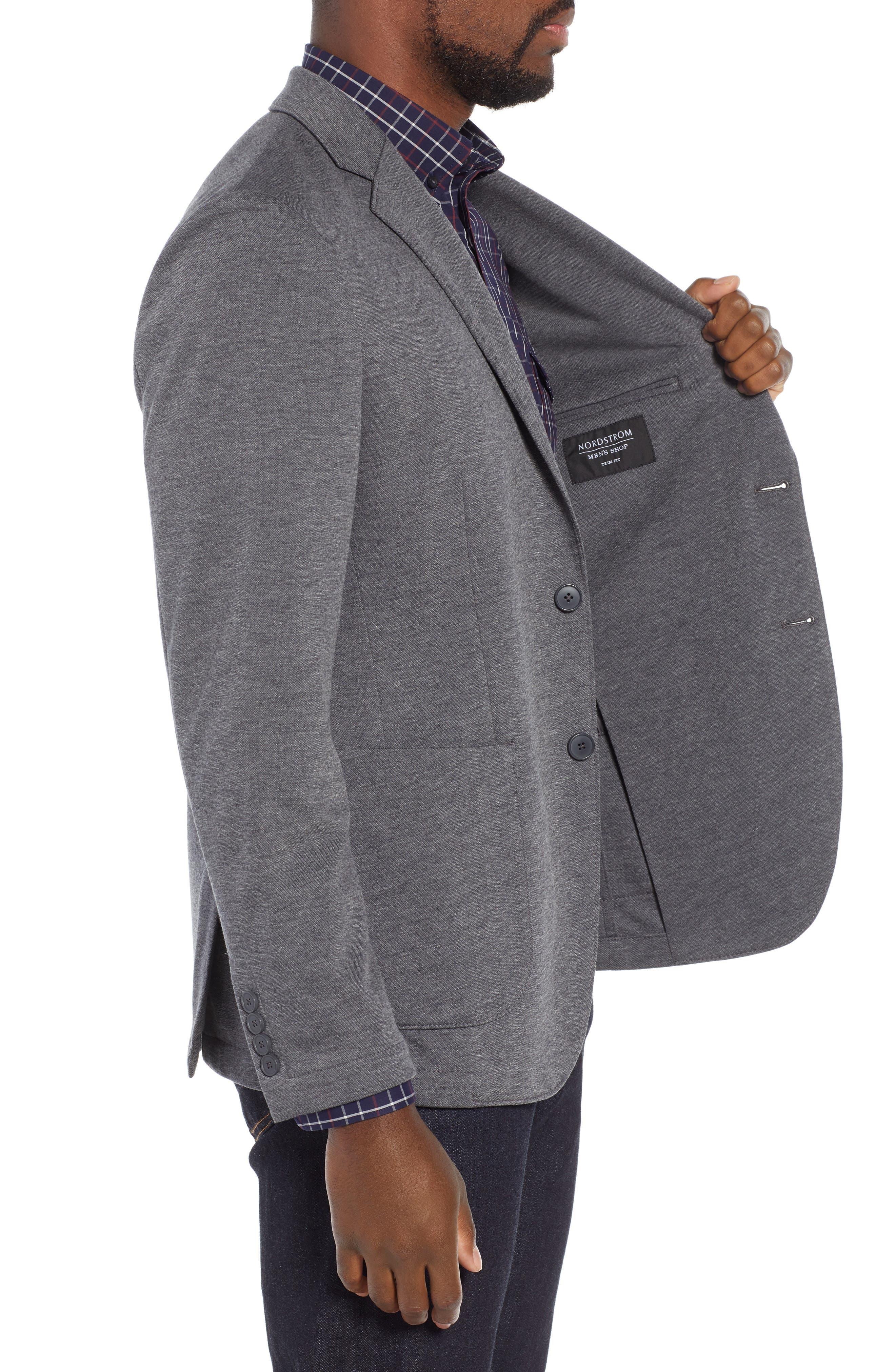 NORDSTROM MEN'S SHOP,                             Trim Fit Stretch Comfort Sport Coat,                             Alternate thumbnail 3, color,                             020