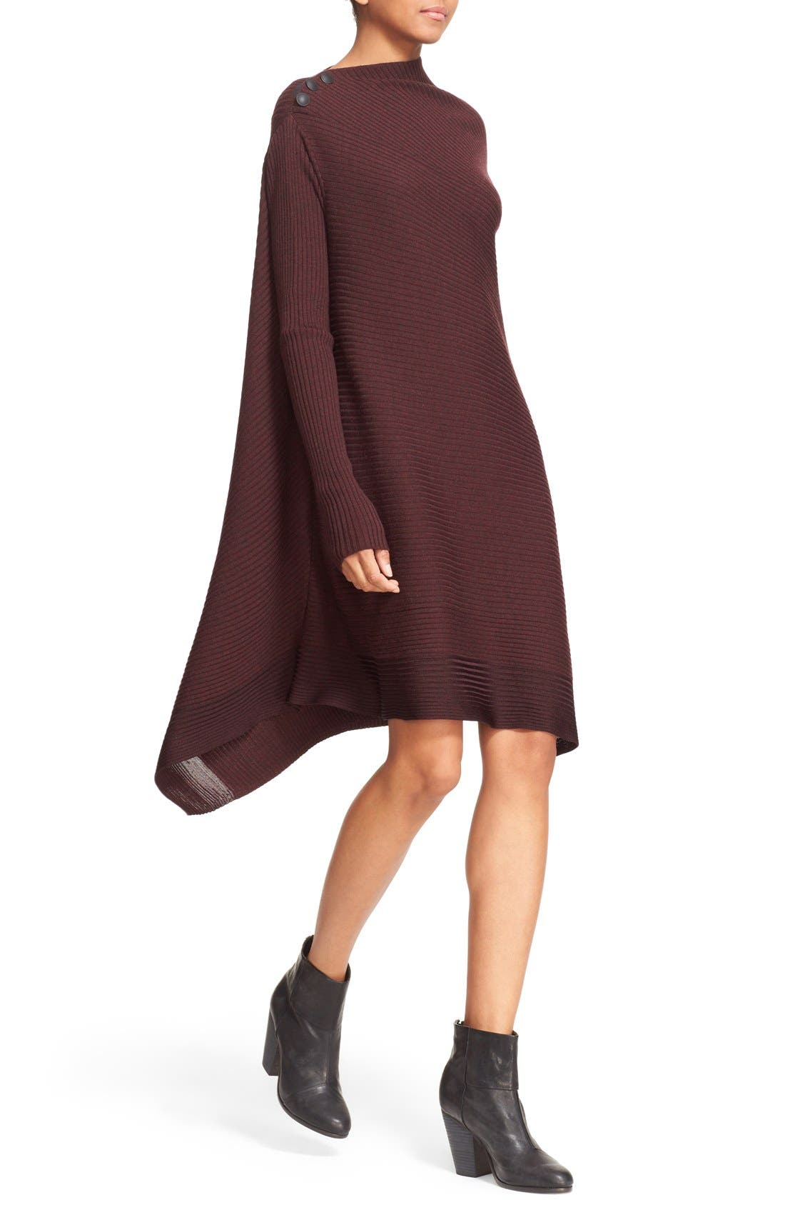 Knit Merino Wool Swing Dress,                             Alternate thumbnail 2, color,                             930