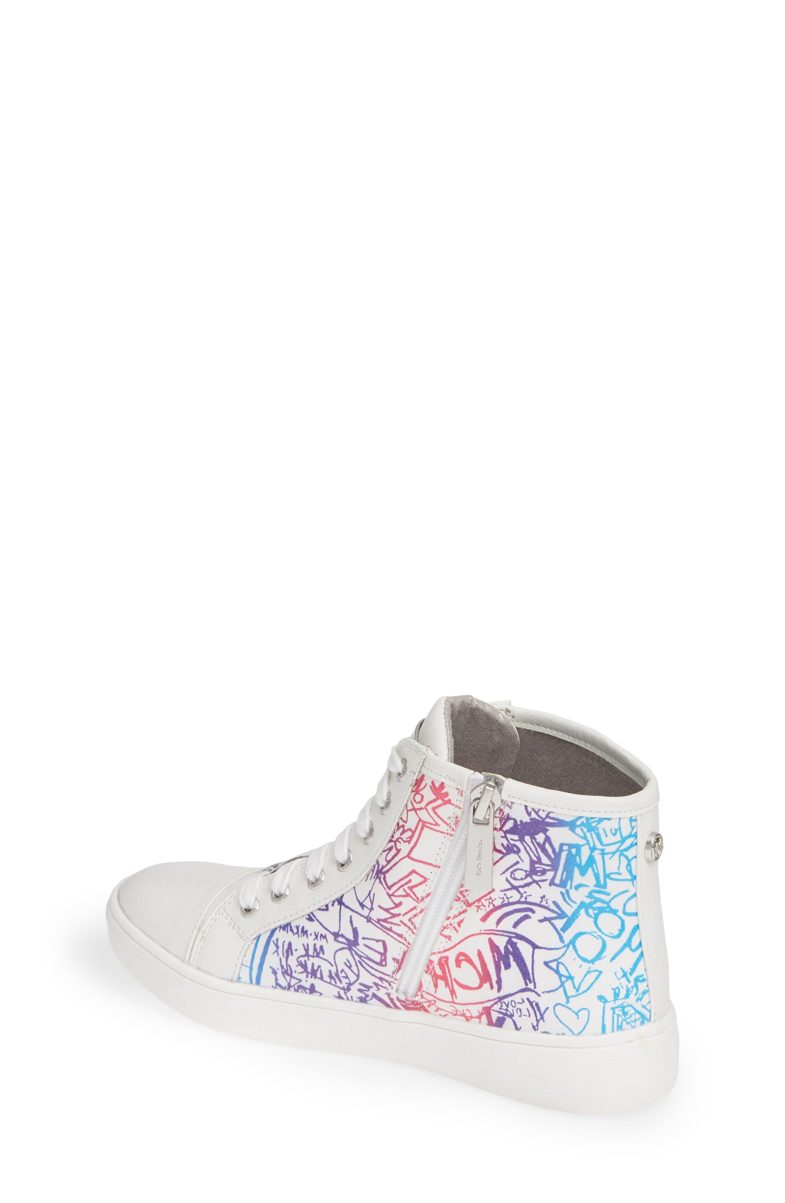 Ivy Spectra High Top Sneaker,                             Alternate thumbnail 2, color,                             WHITE MULTI
