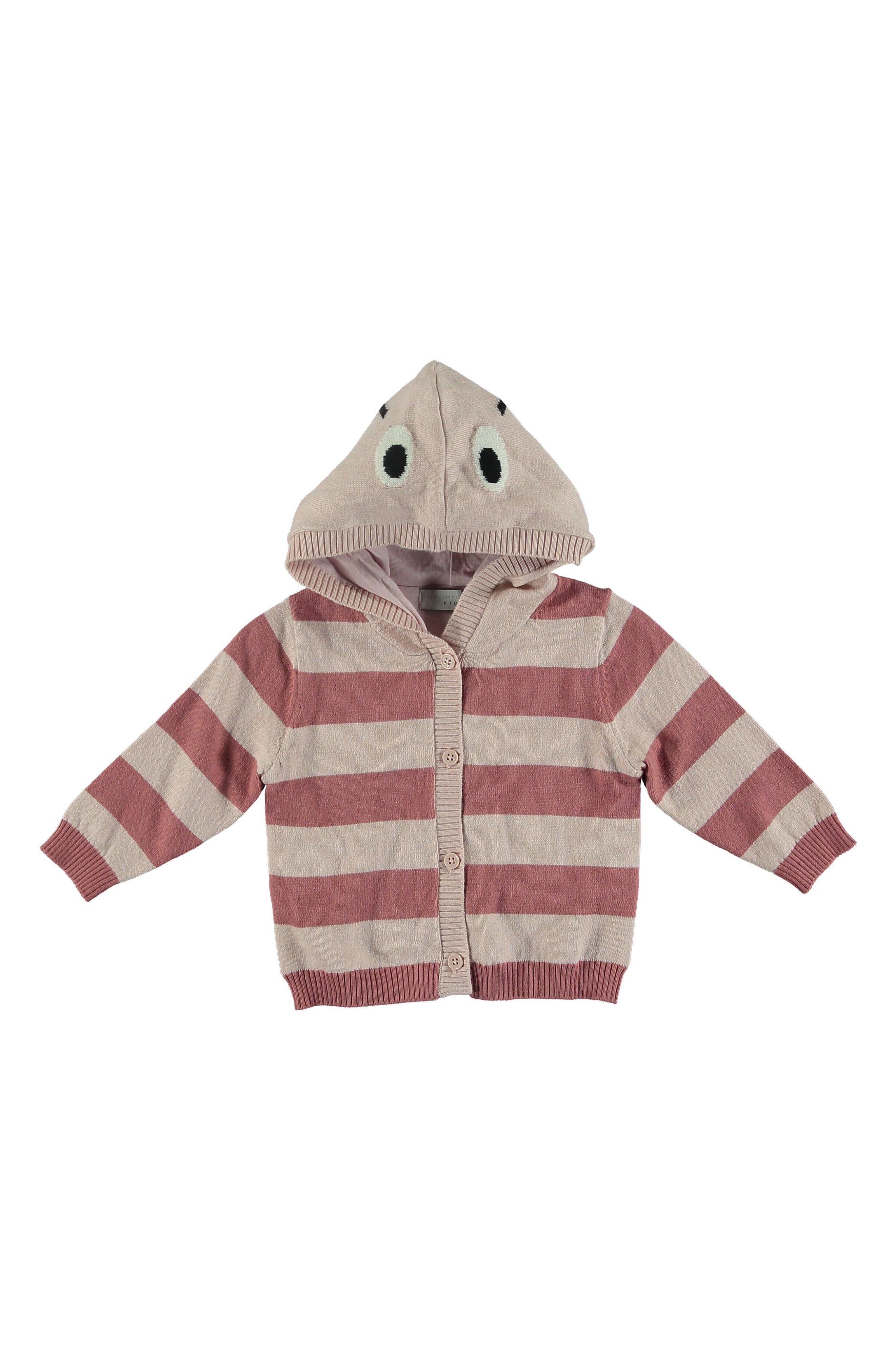 Vita Stripe Hooded Cardigan,                             Main thumbnail 1, color,                             650