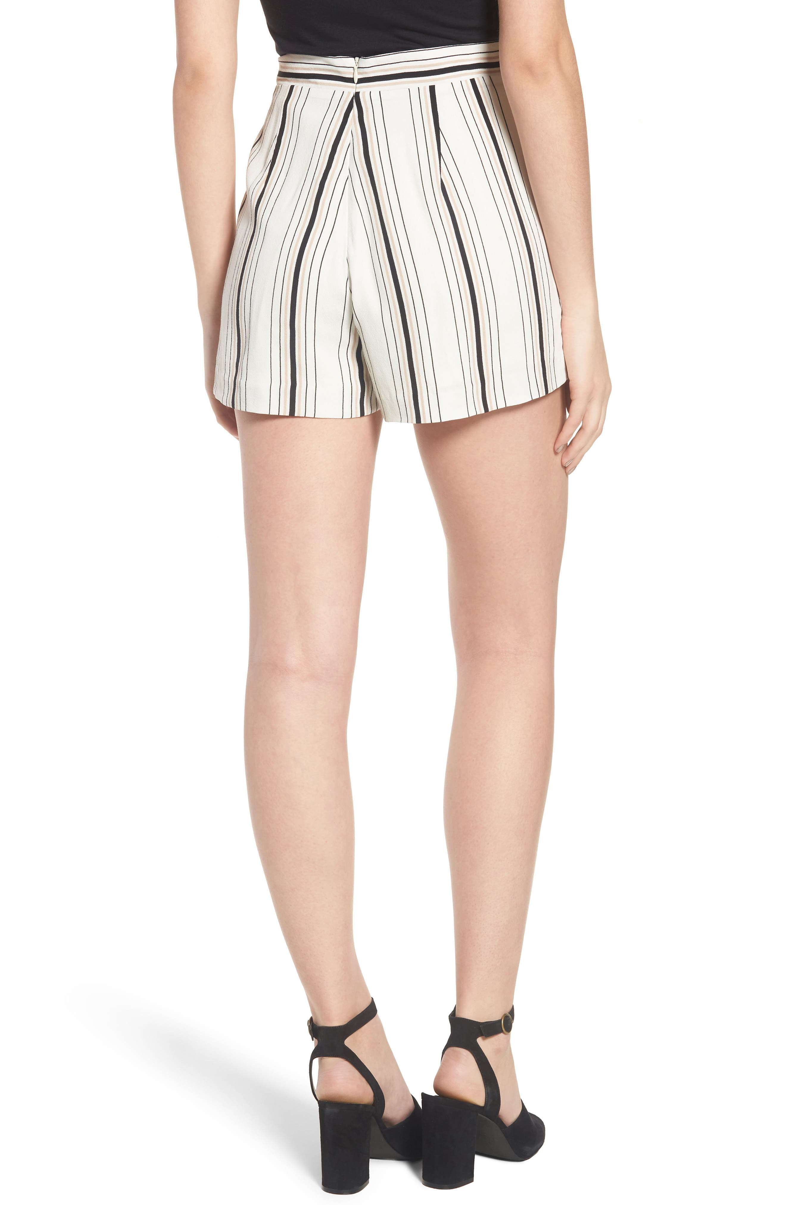 Stripe High Waist Woven Shorts,                             Alternate thumbnail 2, color,                             900