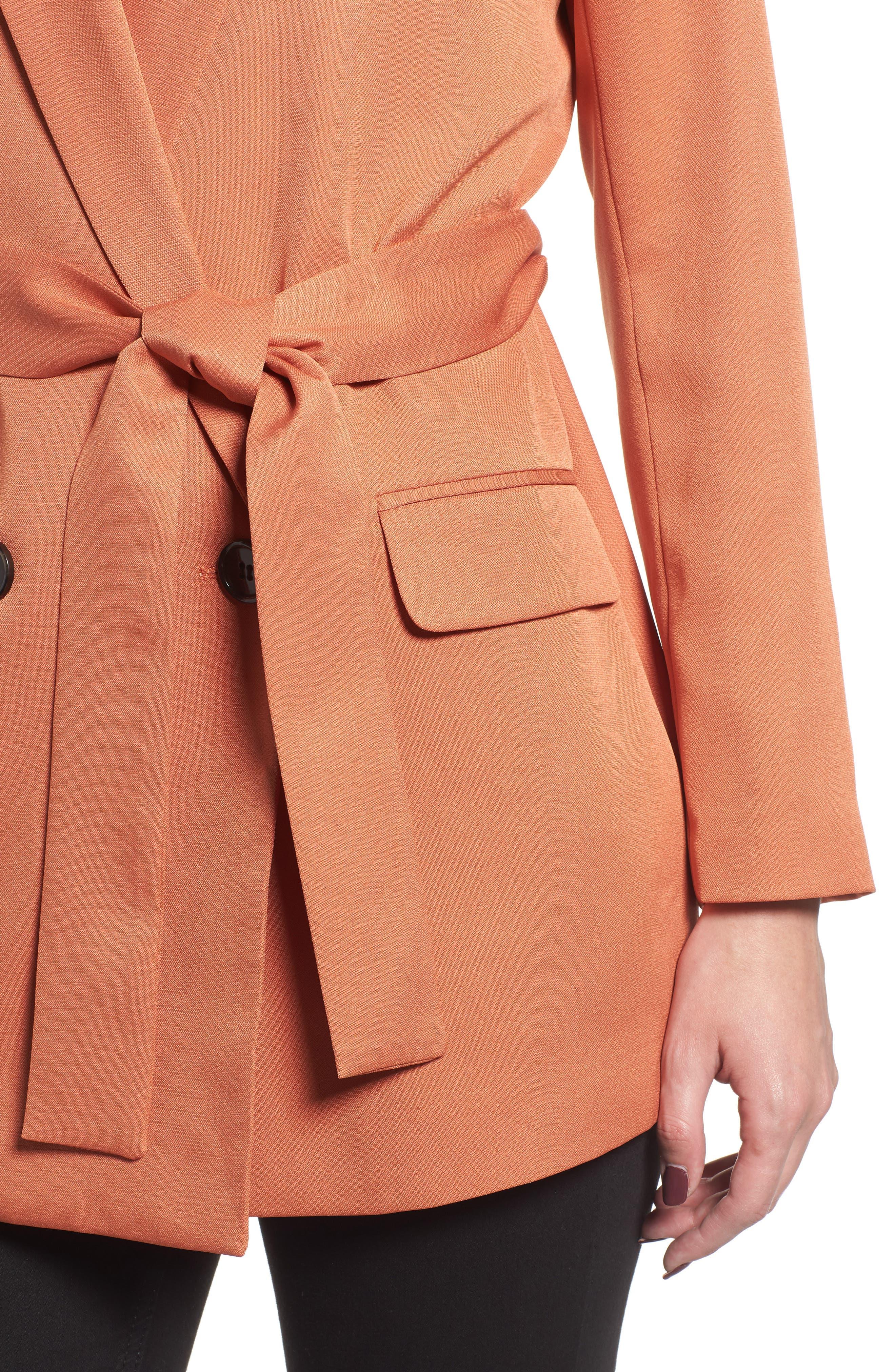 MURAL,                             Belted Blazer,                             Alternate thumbnail 5, color,                             200