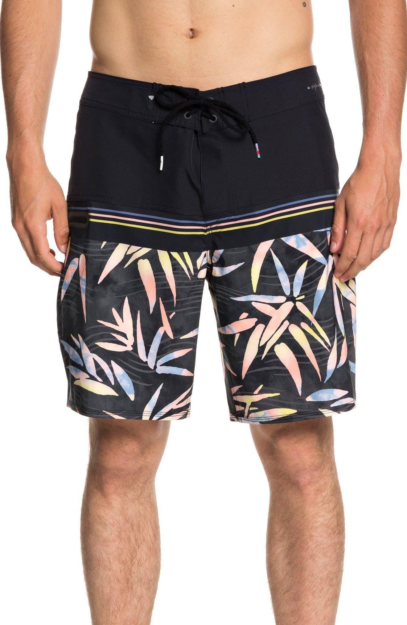 Quilsilver Highline Zen Division Board Shorts,                             Main thumbnail 1, color,                             BLACK
