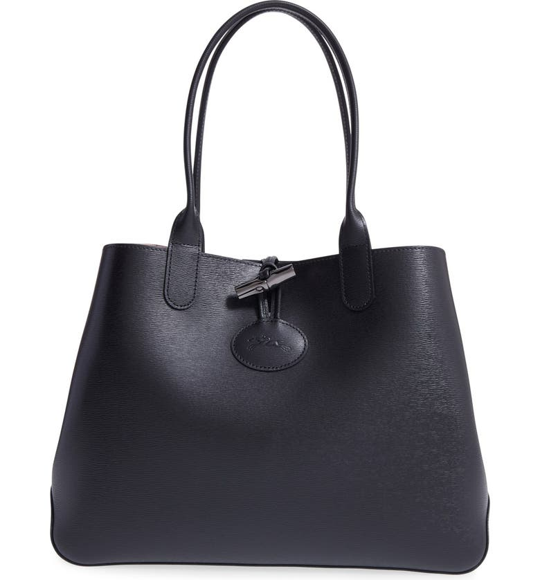 Longchamp  Roseau  Reversible Leather Tote  77ff074aaa52f