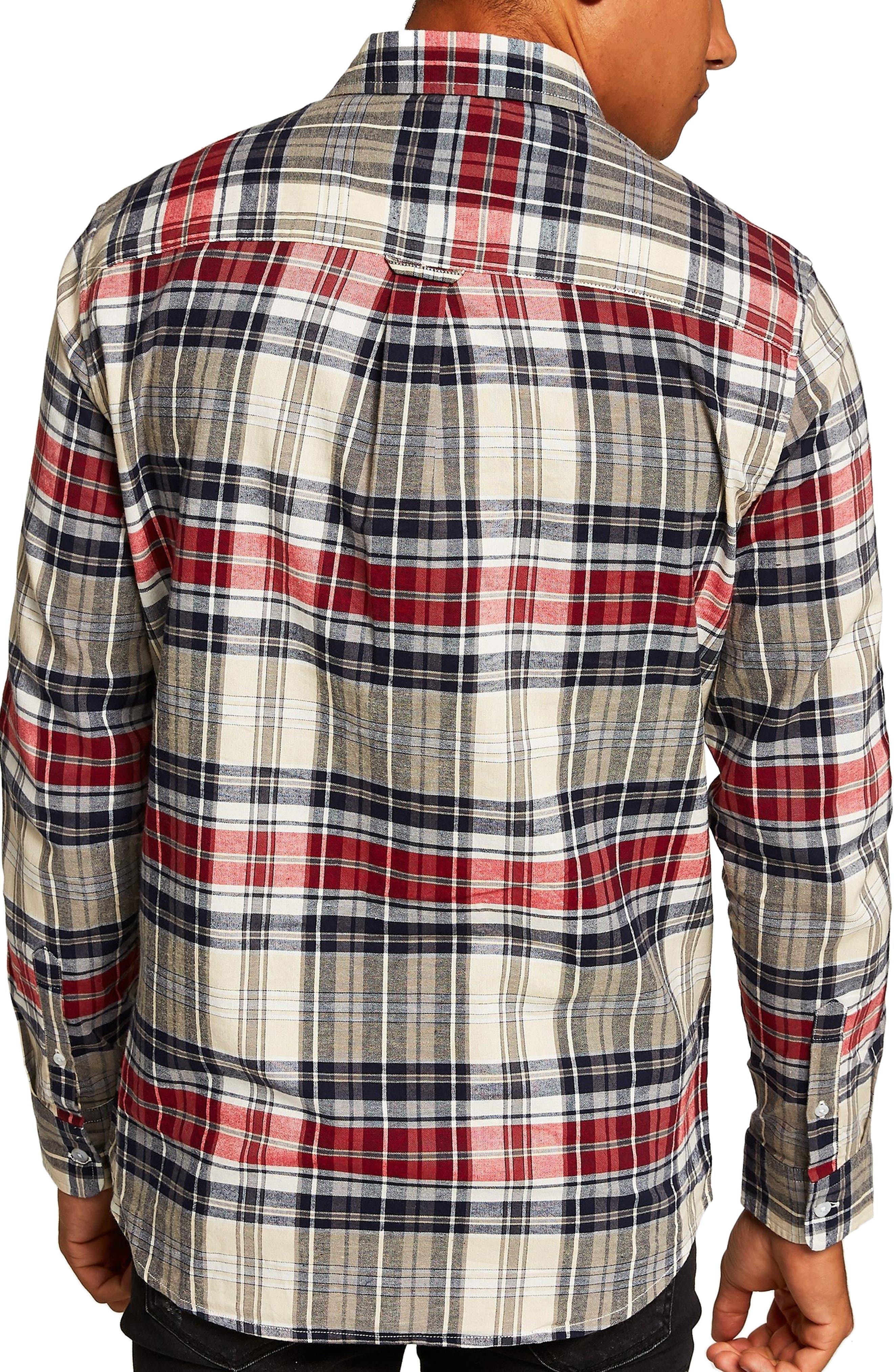 Check Shirt,                             Alternate thumbnail 3, color,                             STONE