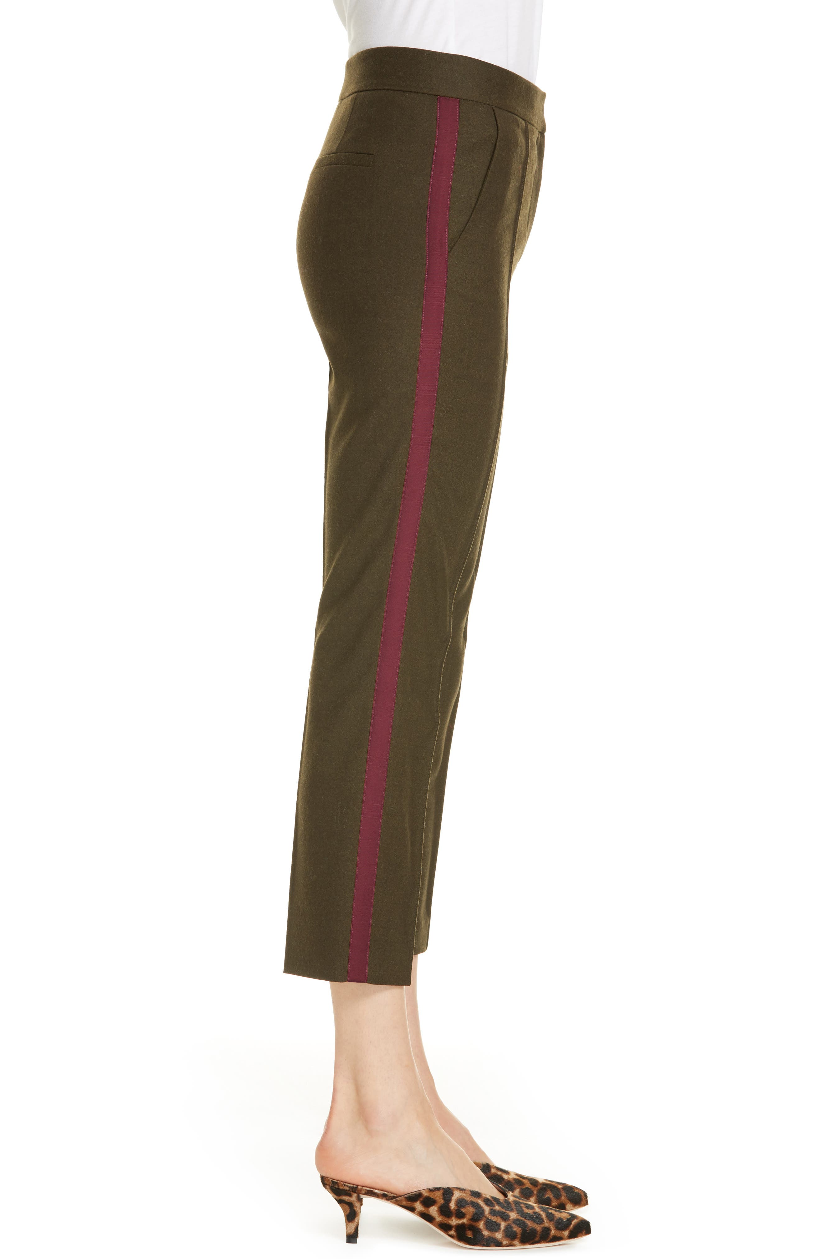 Side Stripe Stretch Flannel Pants,                             Alternate thumbnail 3, color,                             301