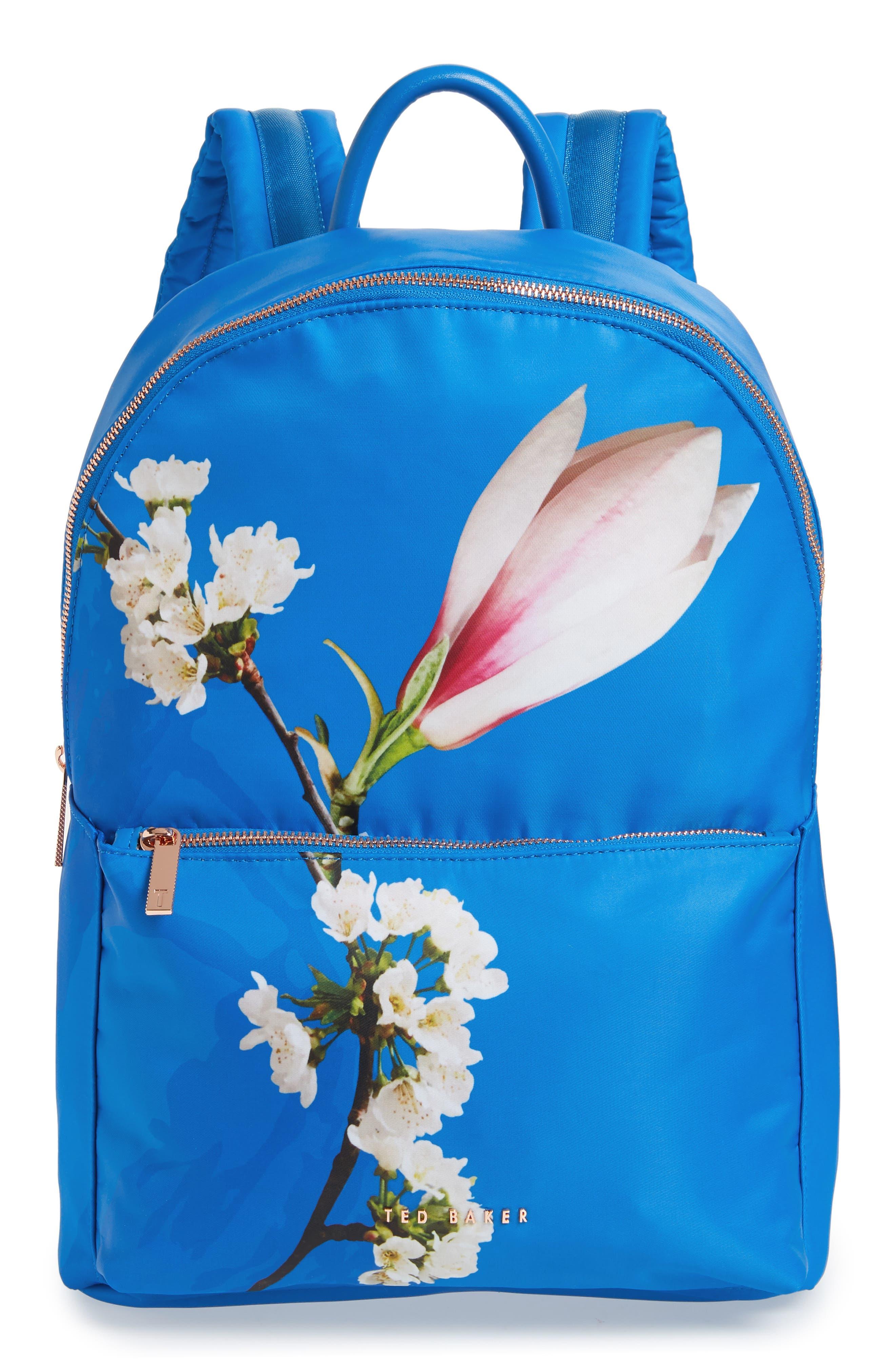 Harmony Print Backpack,                             Main thumbnail 1, color,                             BRIGHT BLUE