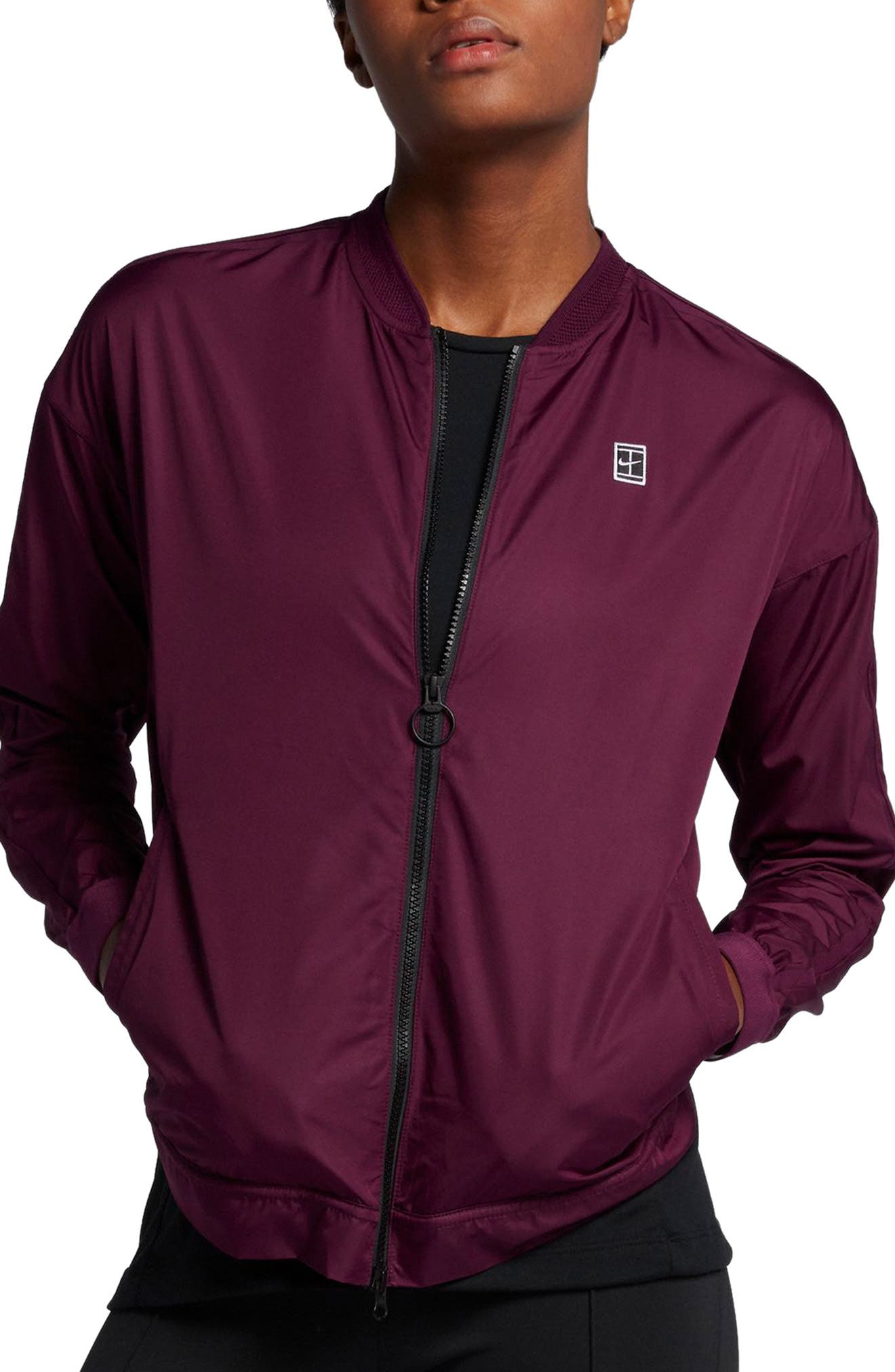 Court Water-Resistant Bomber Jacket,                             Main thumbnail 2, color,