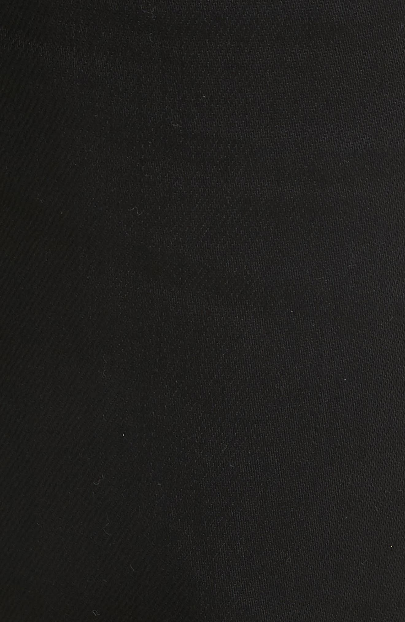 Black Bull Skater Jeans,                             Alternate thumbnail 5, color,                             BLACK