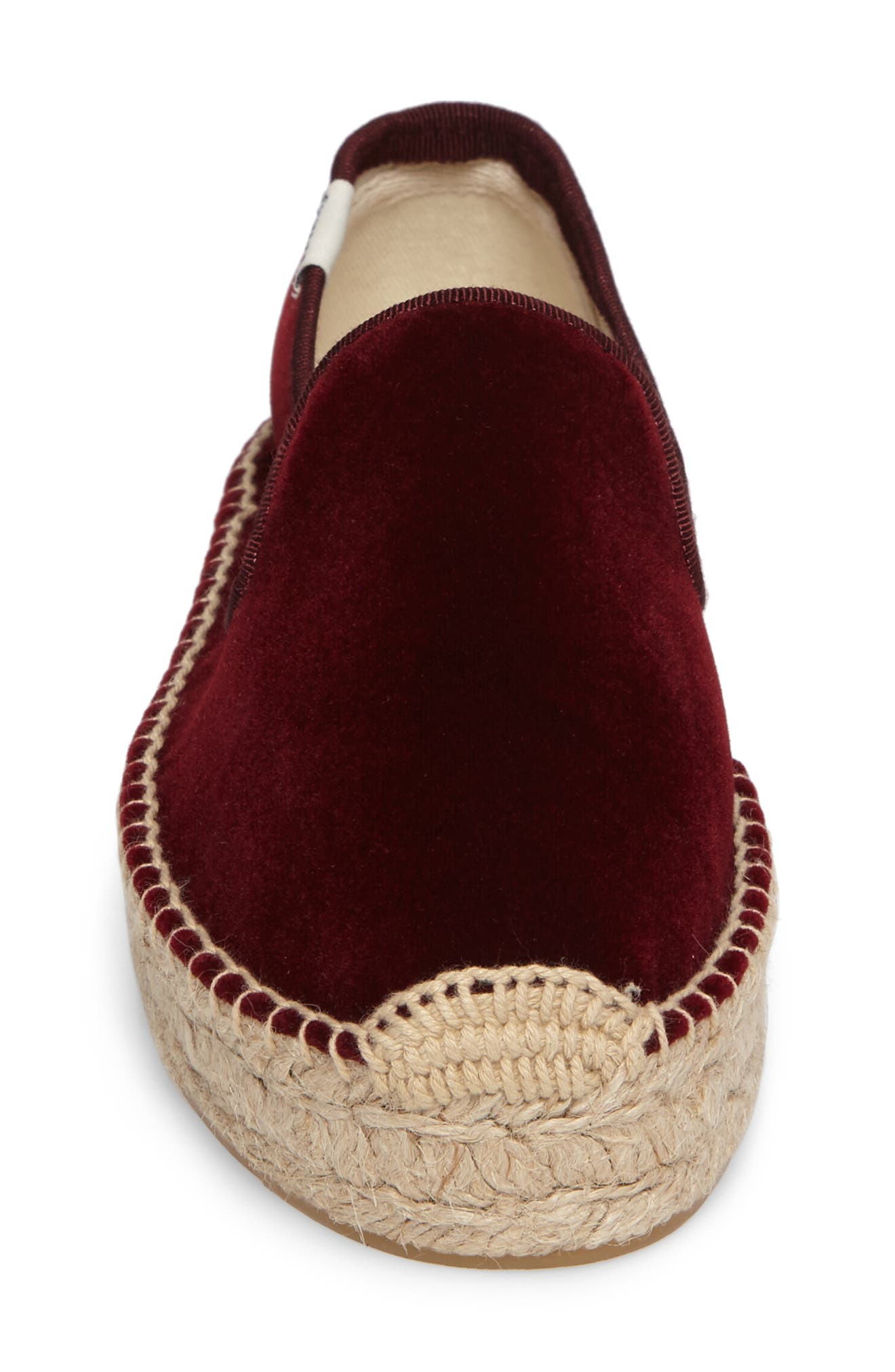 Velvet Smoking Slipper Espadrille,                             Alternate thumbnail 4, color,                             930