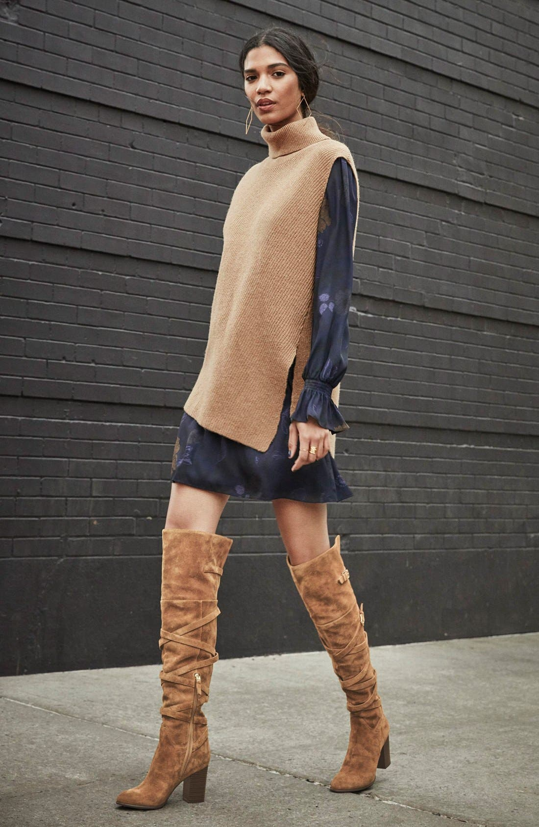 'Sable' Over the Knee Boot,                             Alternate thumbnail 5, color,                             002
