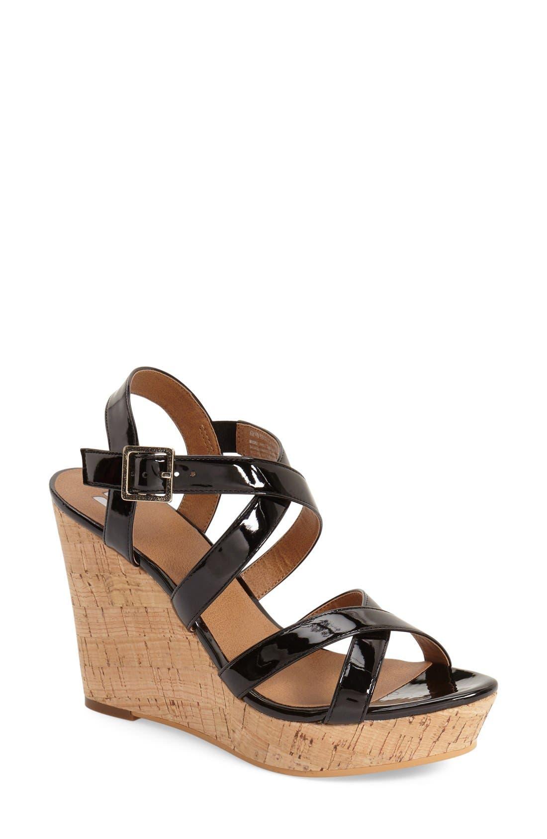 'Summers' Wedge Sandal,                             Main thumbnail 1, color,                             003