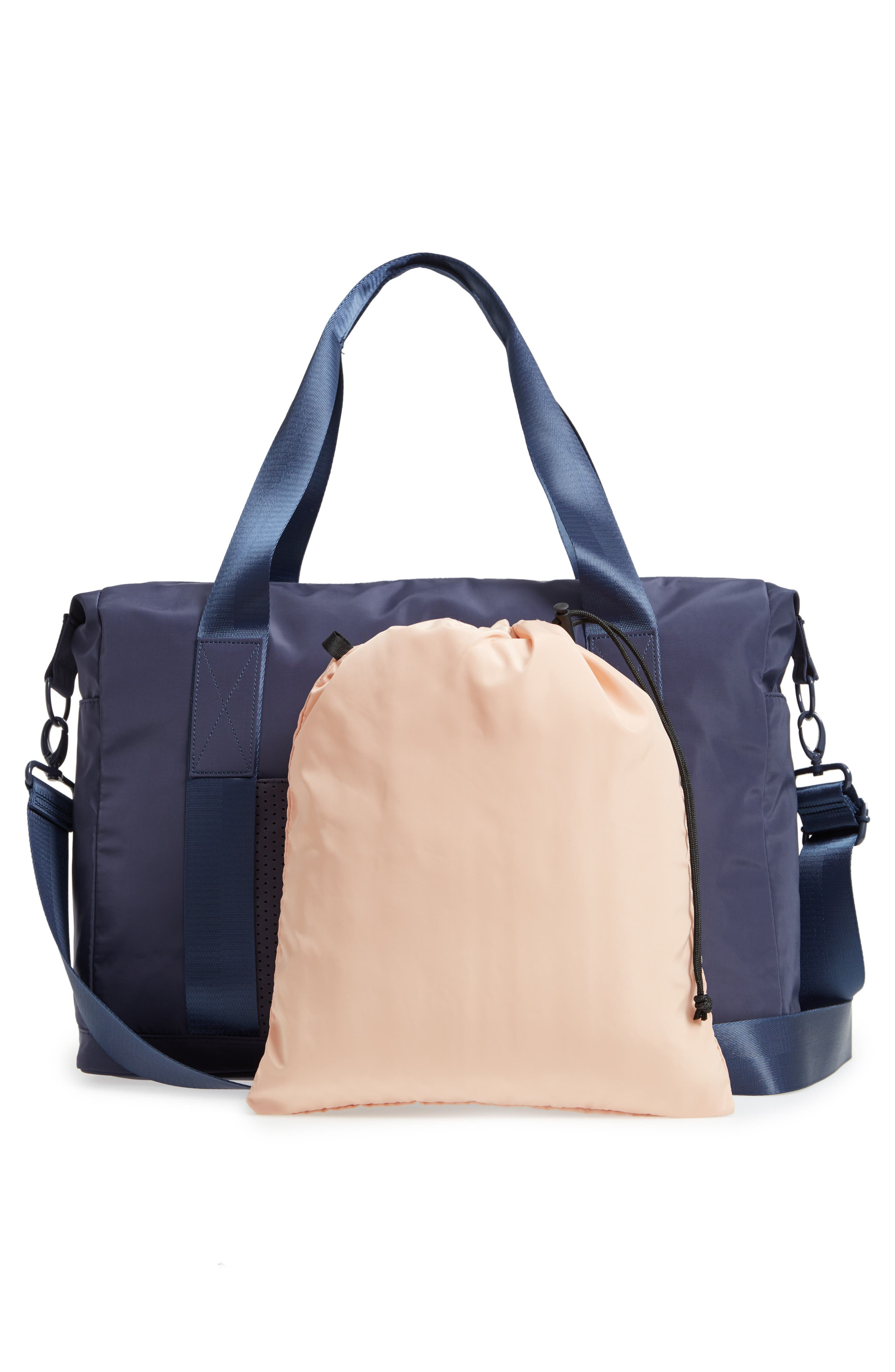 New Perforated Duffel Bag,                             Alternate thumbnail 3, color,                             NAVY MARITIME