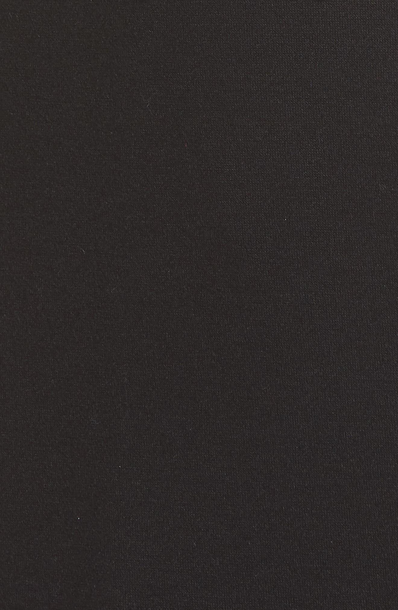 Mesh Sleeve Hoodie Dress,                             Alternate thumbnail 5, color,                             001