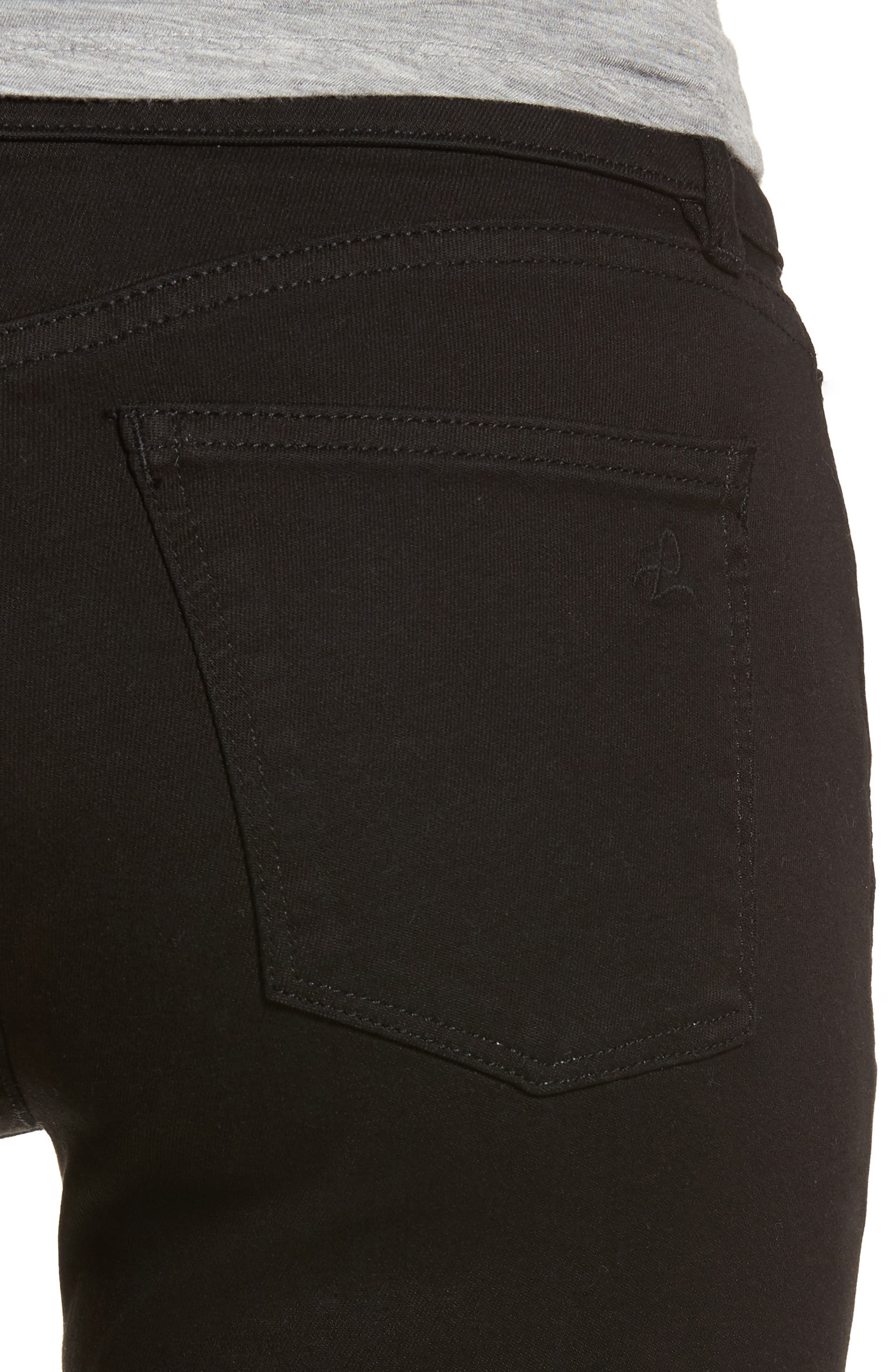 Coco Curvy Straight Leg Jeans,                             Alternate thumbnail 4, color,                             001