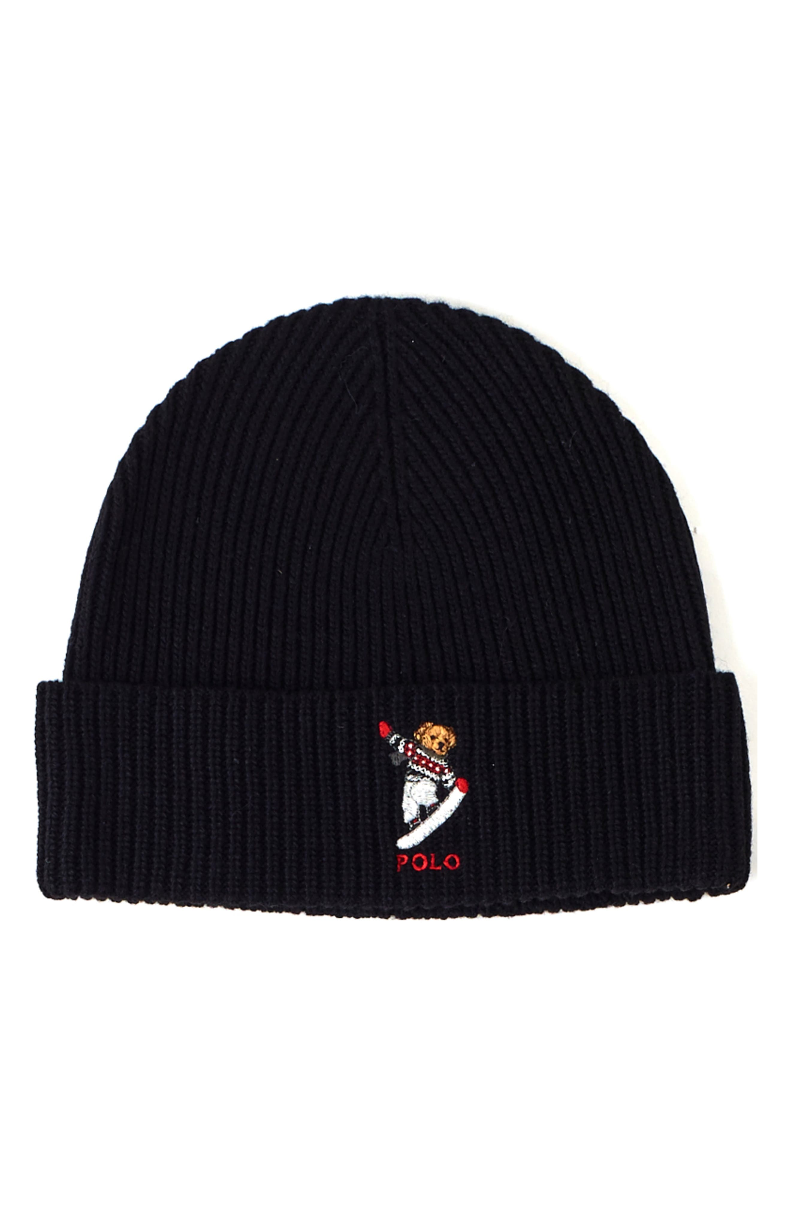 Polo Ralph Lauren Snow Bear Knit Beanie - Black  034dbc103b9