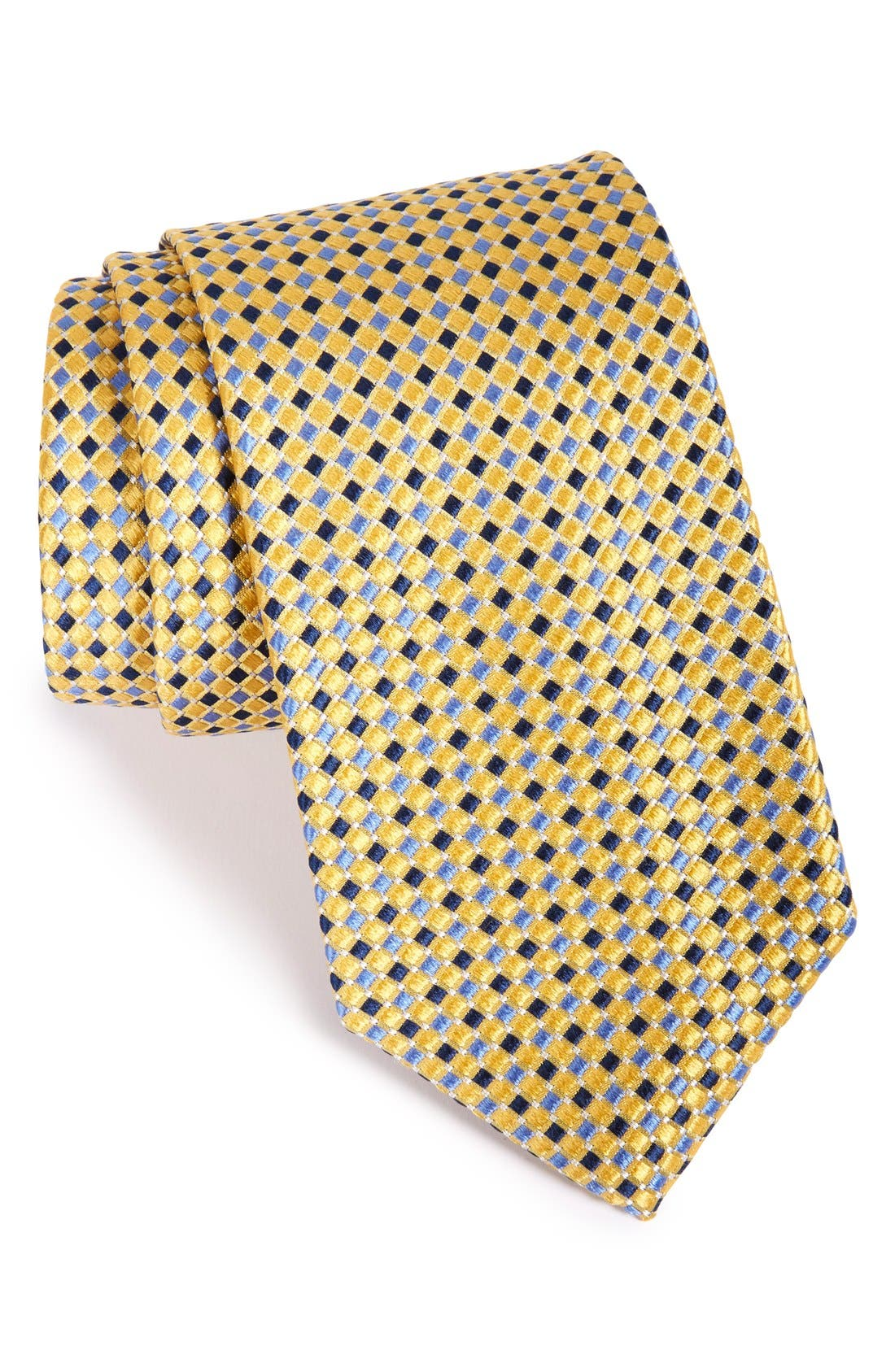 Geo Pattern Silk Tie,                             Main thumbnail 9, color,