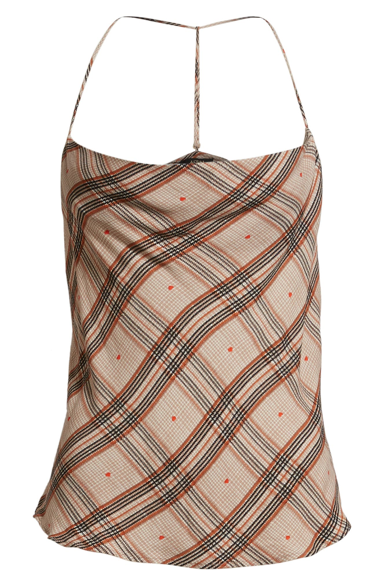 Finn T-Back Camisole,                             Alternate thumbnail 6, color,                             PLAID WITH HEART