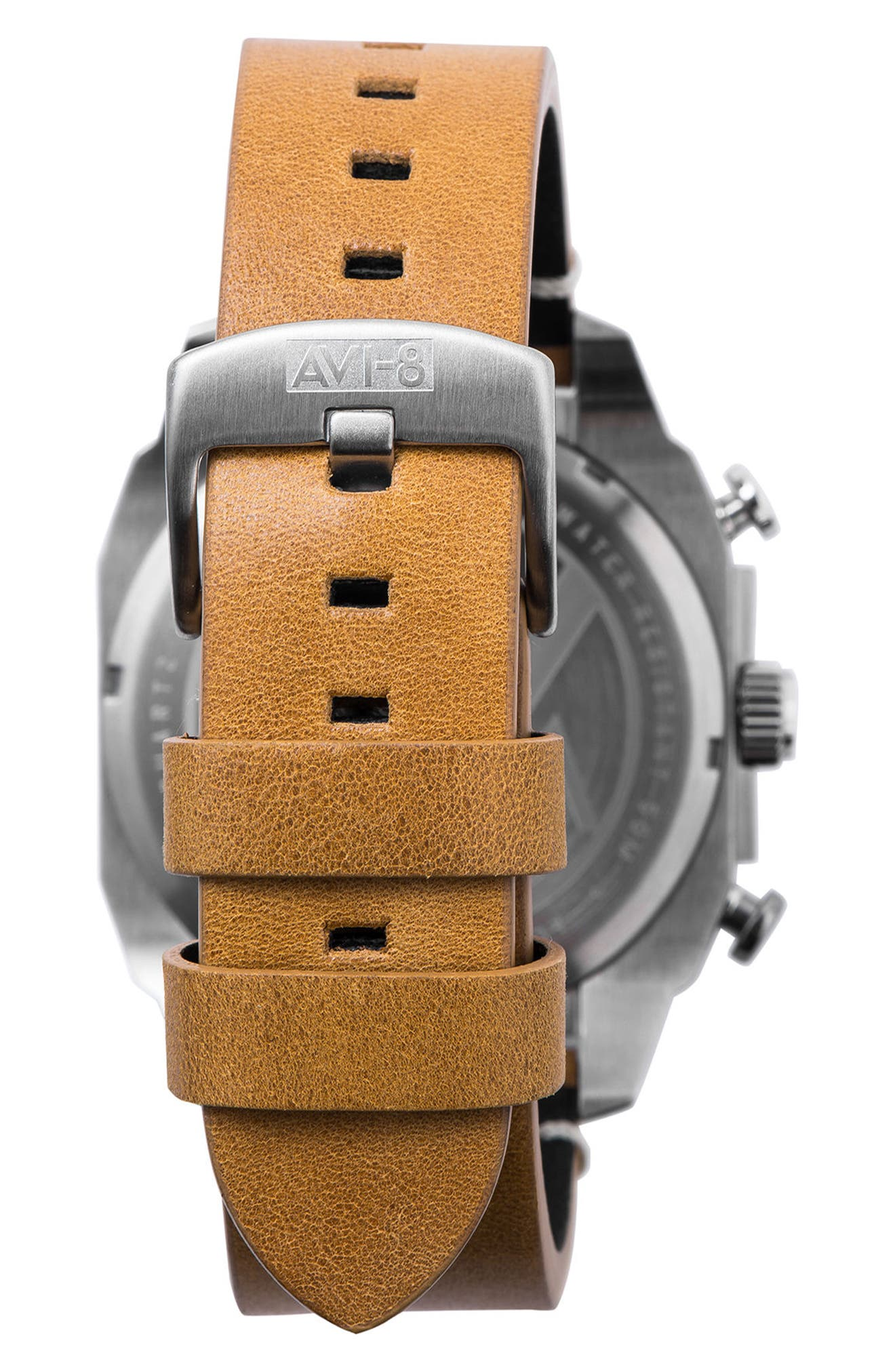 Hawker Hunter Chronograph Leather Strap Watch, 45mm,                             Alternate thumbnail 2, color,