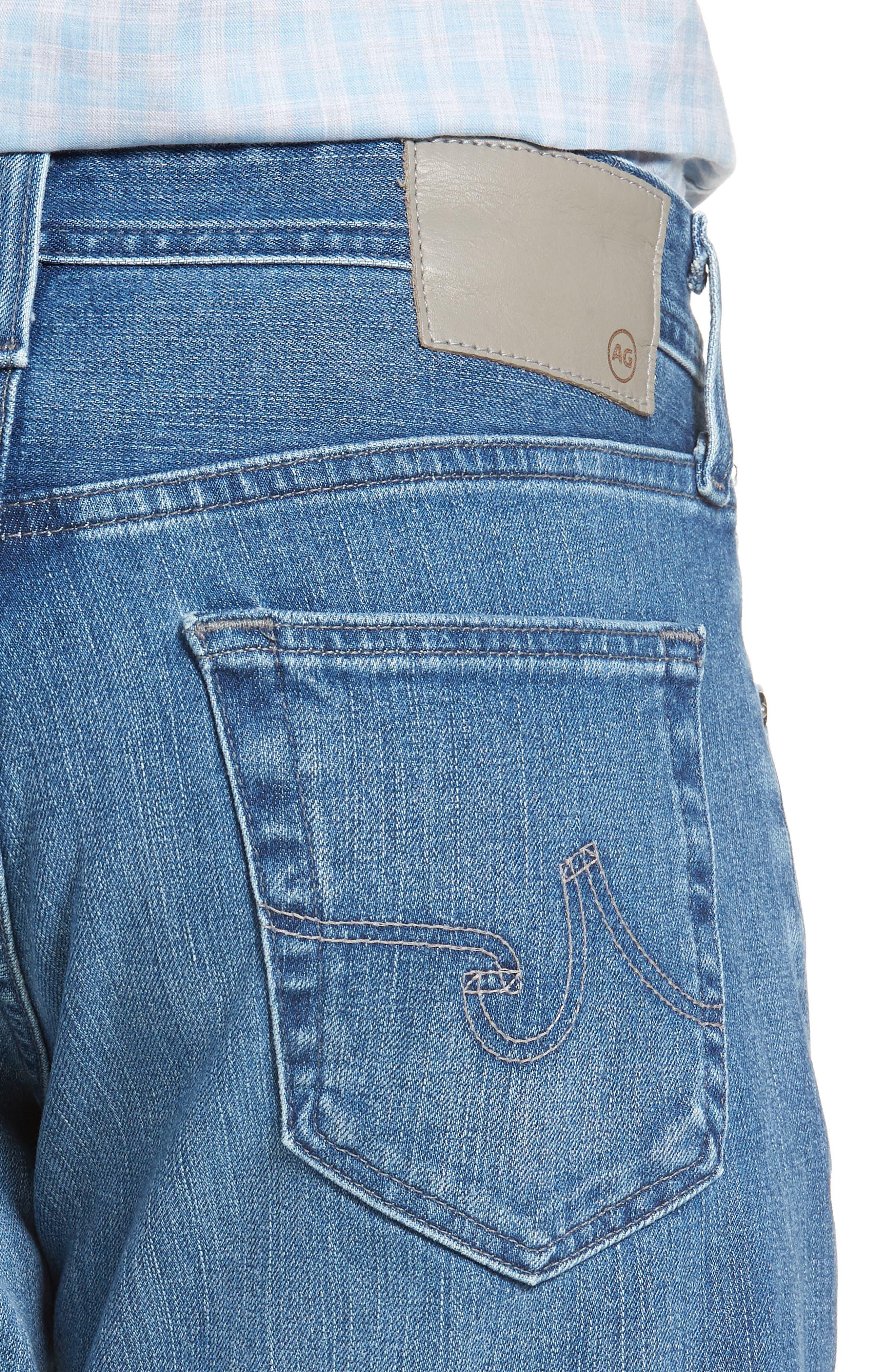 Graduate Slim Straight Leg Jeans,                             Alternate thumbnail 4, color,                             DEMOLITION