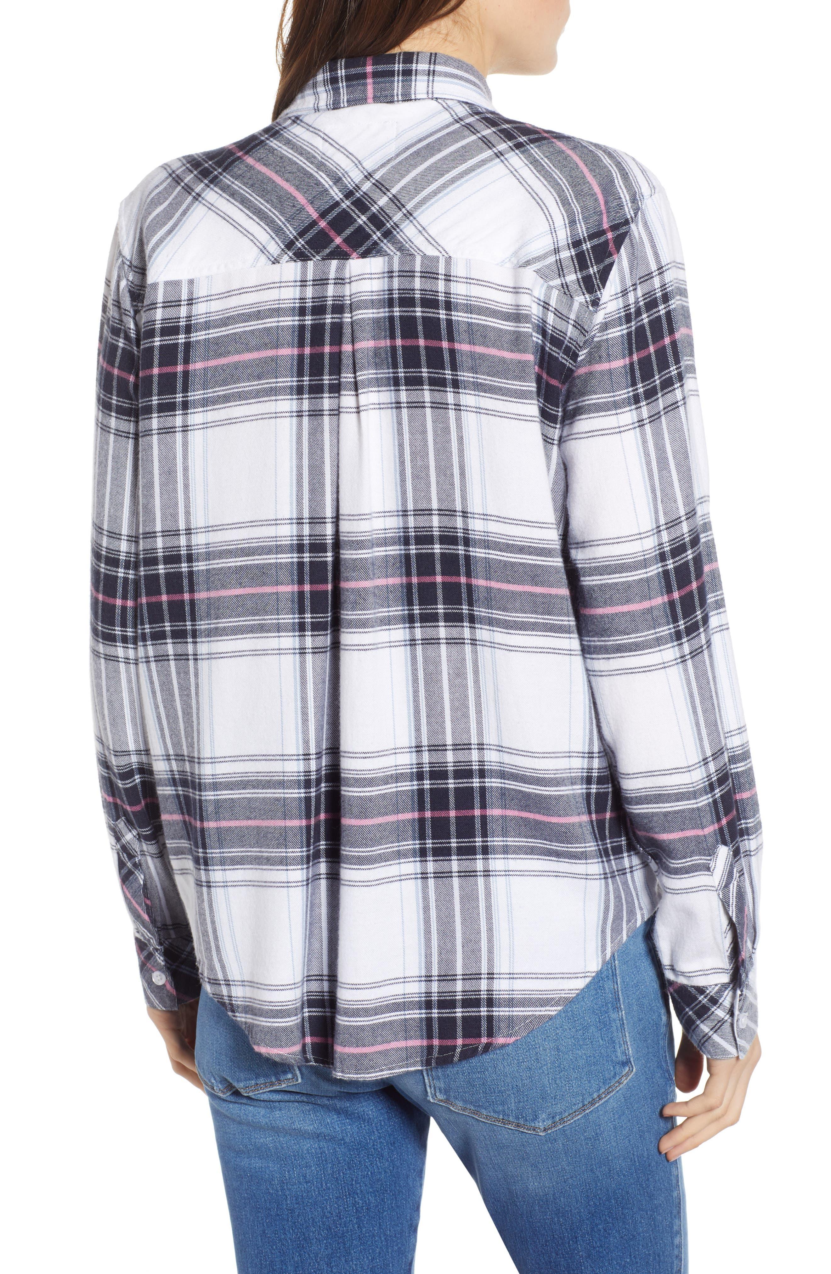 Milo Plaid Shirt,                             Alternate thumbnail 2, color,                             WHITE NAVY MAGENTA