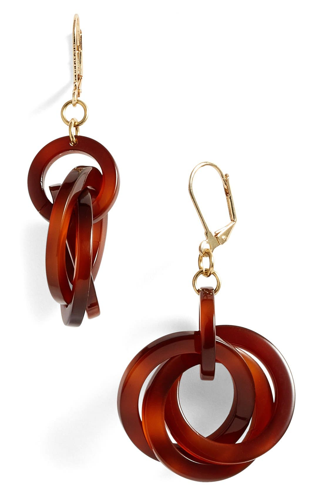 'Twisted Loops' Drop Earrings,                             Main thumbnail 6, color,