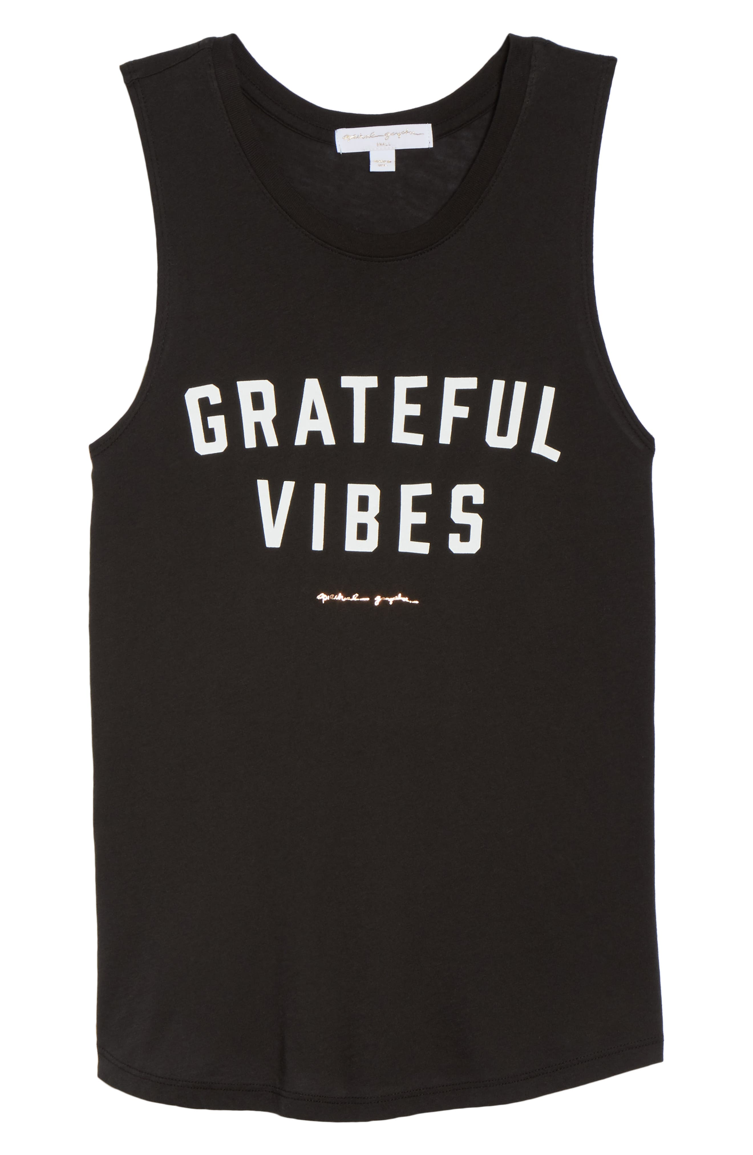 Grateful Vibes Muscle Tee,                             Alternate thumbnail 7, color,                             003