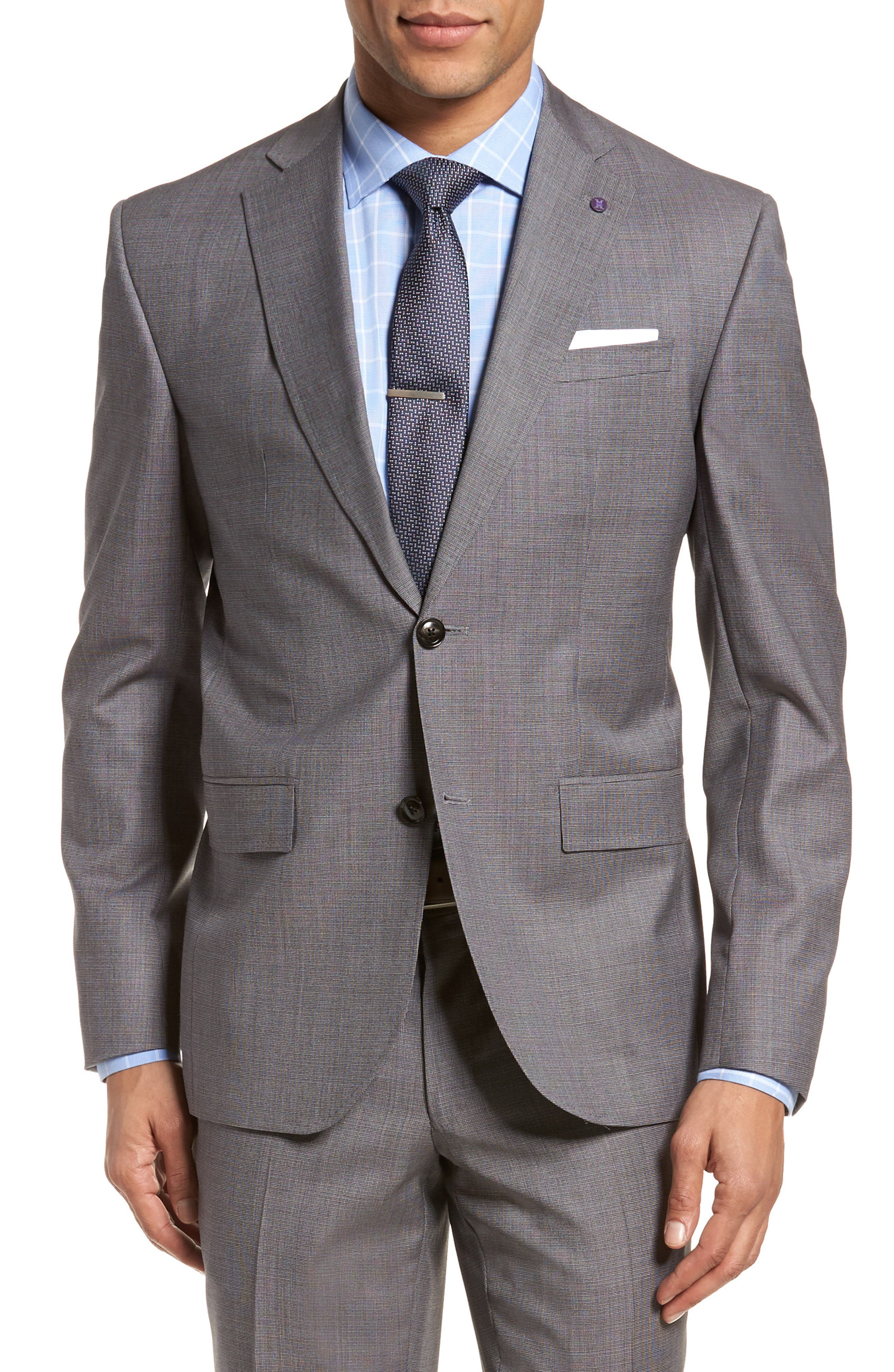 Roger Extra Slim Fit Solid Wool Suit,                             Alternate thumbnail 5, color,