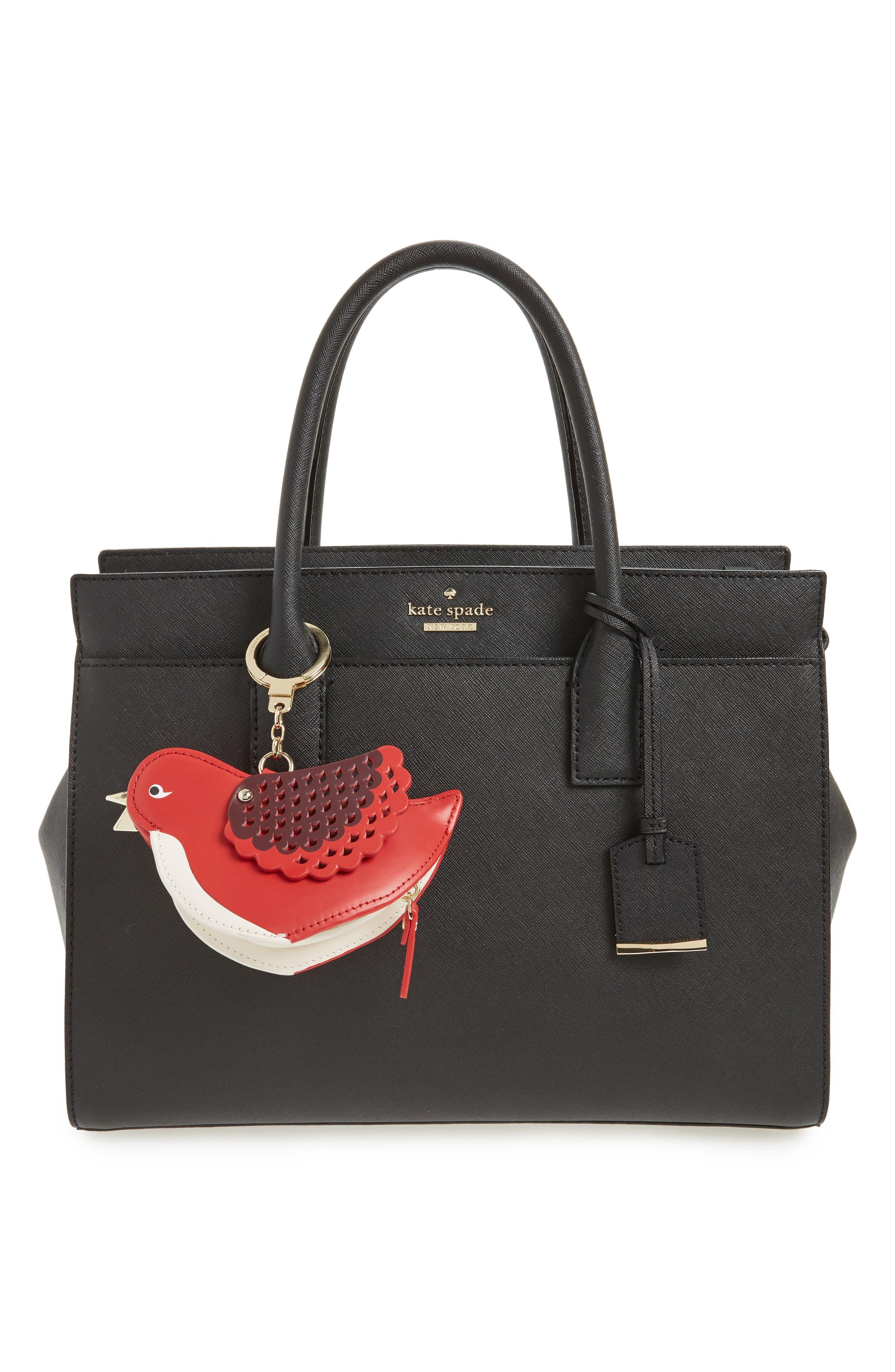 ooh la la 3d bird leather coin purse,                             Alternate thumbnail 2, color,                             600