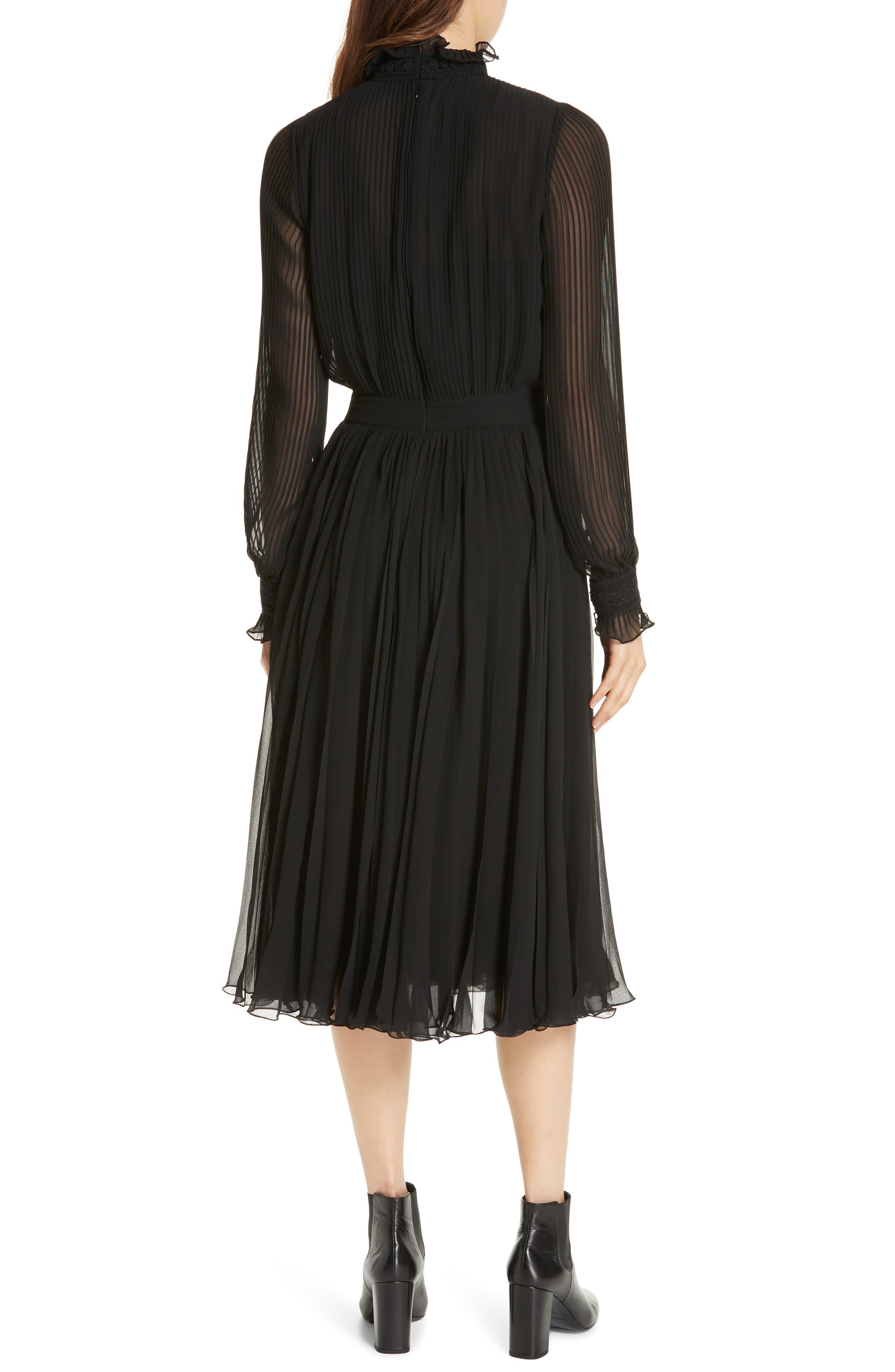 Anbele Midi Dress,                             Alternate thumbnail 2, color,                             POLO BLACK