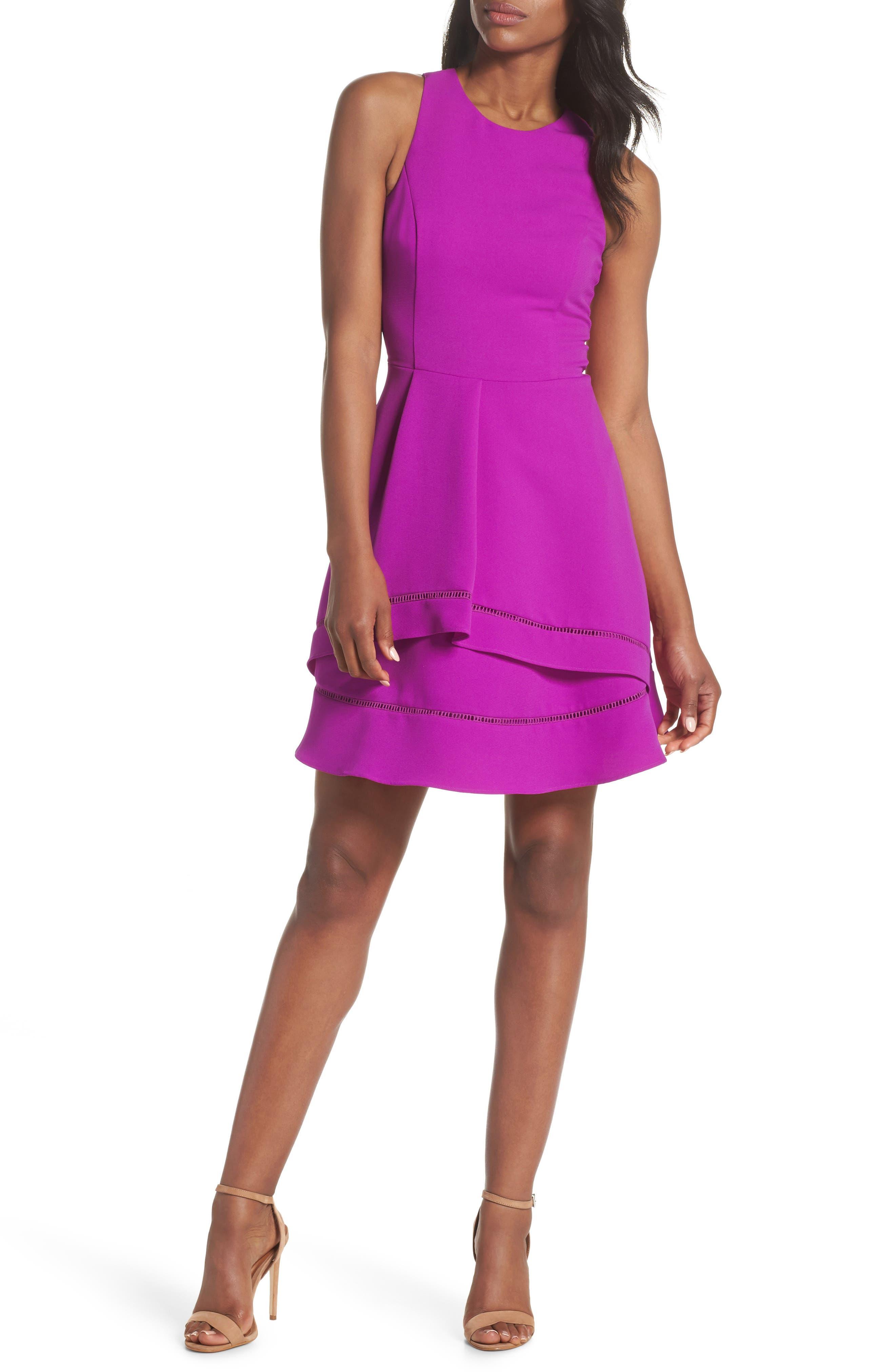 Gemma Fit & Flare Dress,                             Main thumbnail 2, color,