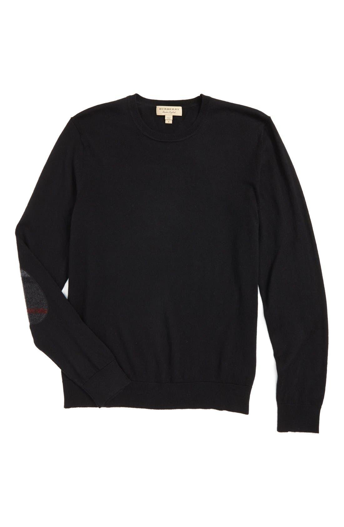 Brit Richmond Cotton & Cashmere Sweater,                             Alternate thumbnail 6, color,                             001