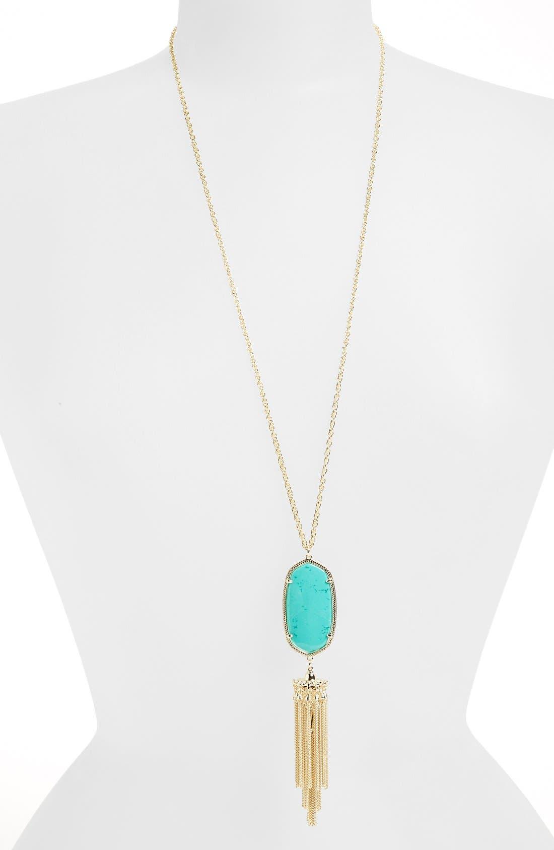 Rayne Stone Tassel Pendant Necklace,                             Main thumbnail 52, color,